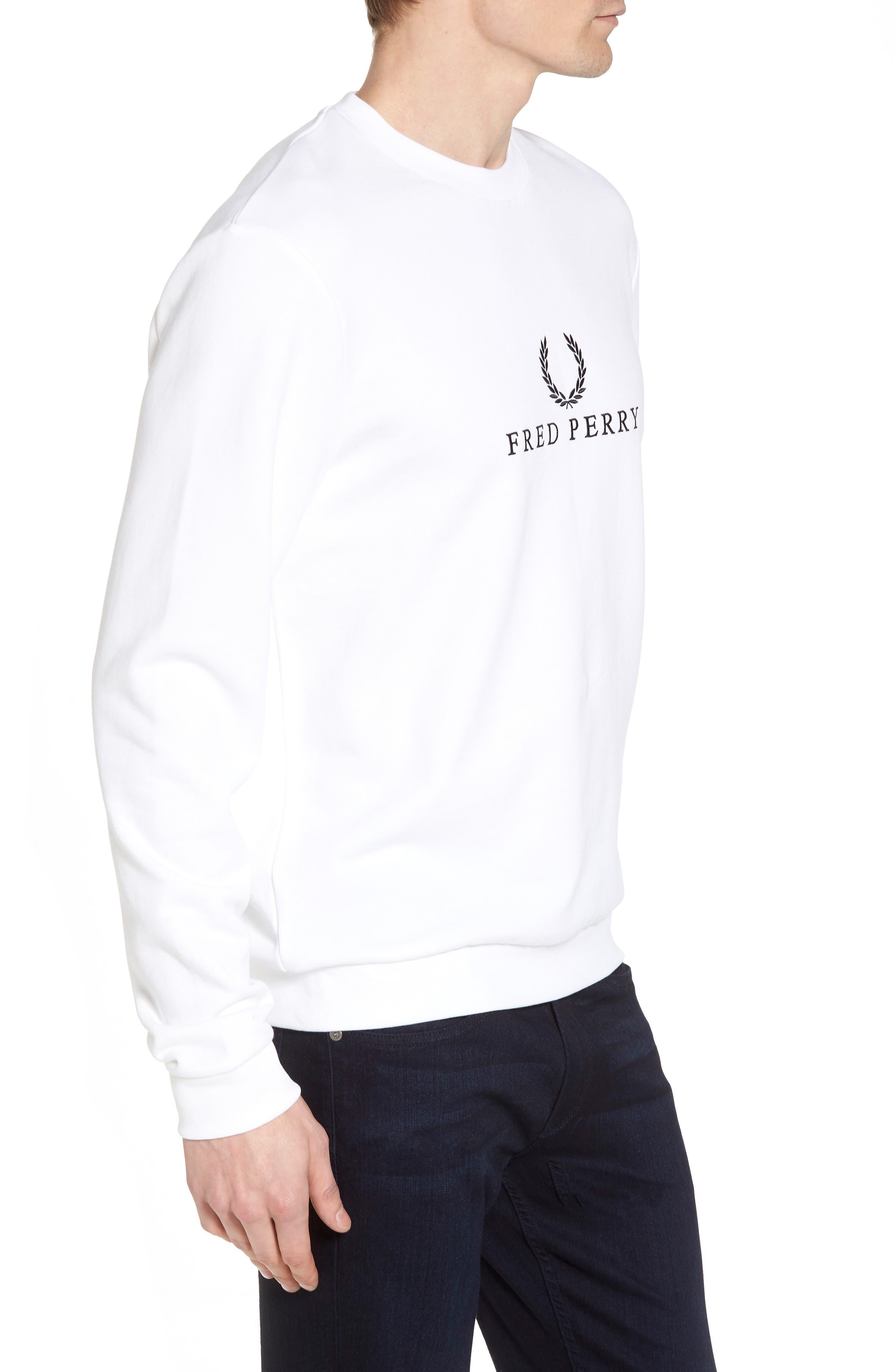 Tennis Sweatshirt,                             Alternate thumbnail 3, color,                             White