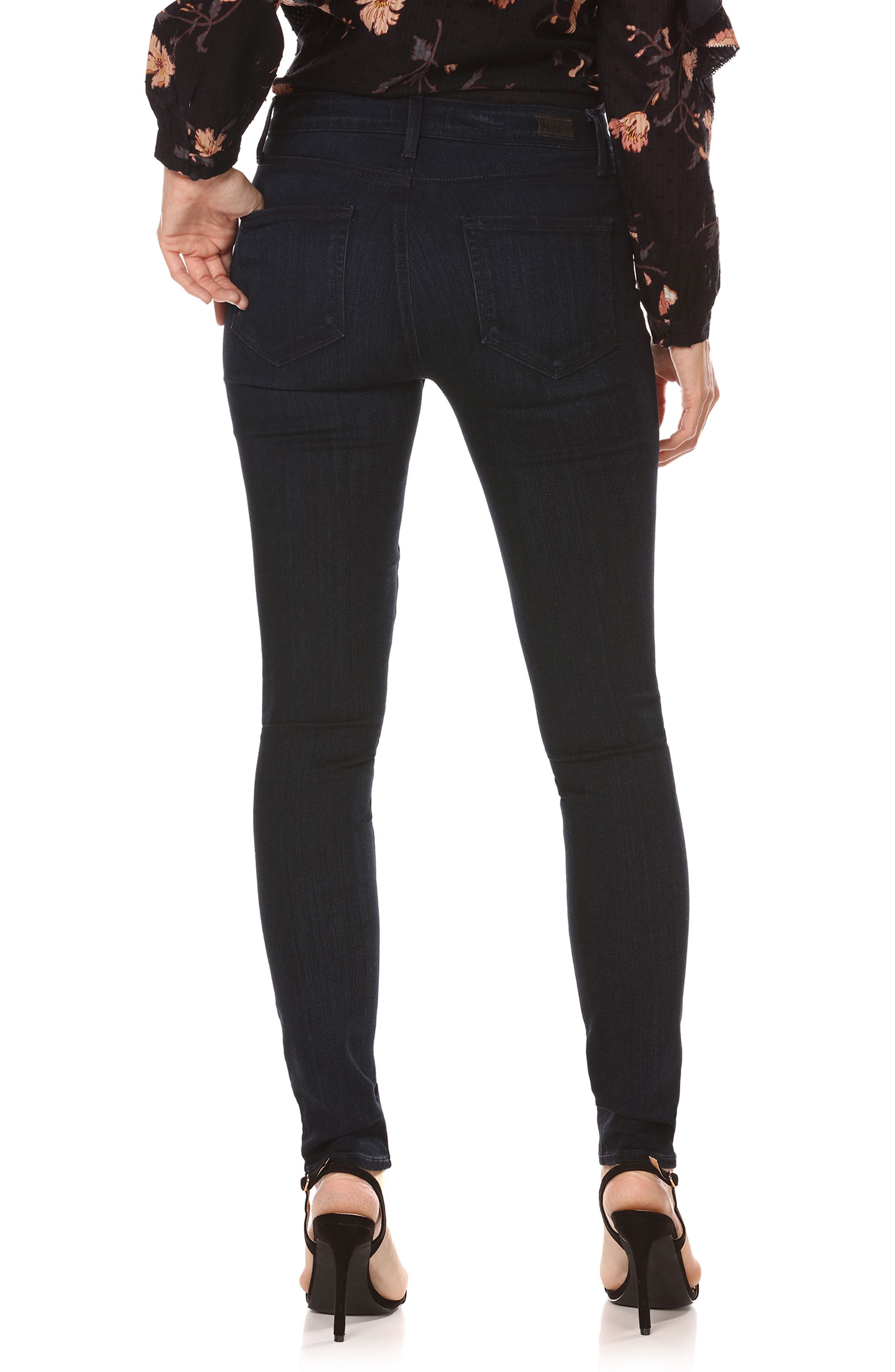 Transcend - Hoxton High Waist Ultra Skinny Jeans,                             Alternate thumbnail 3, color,                             Emryn