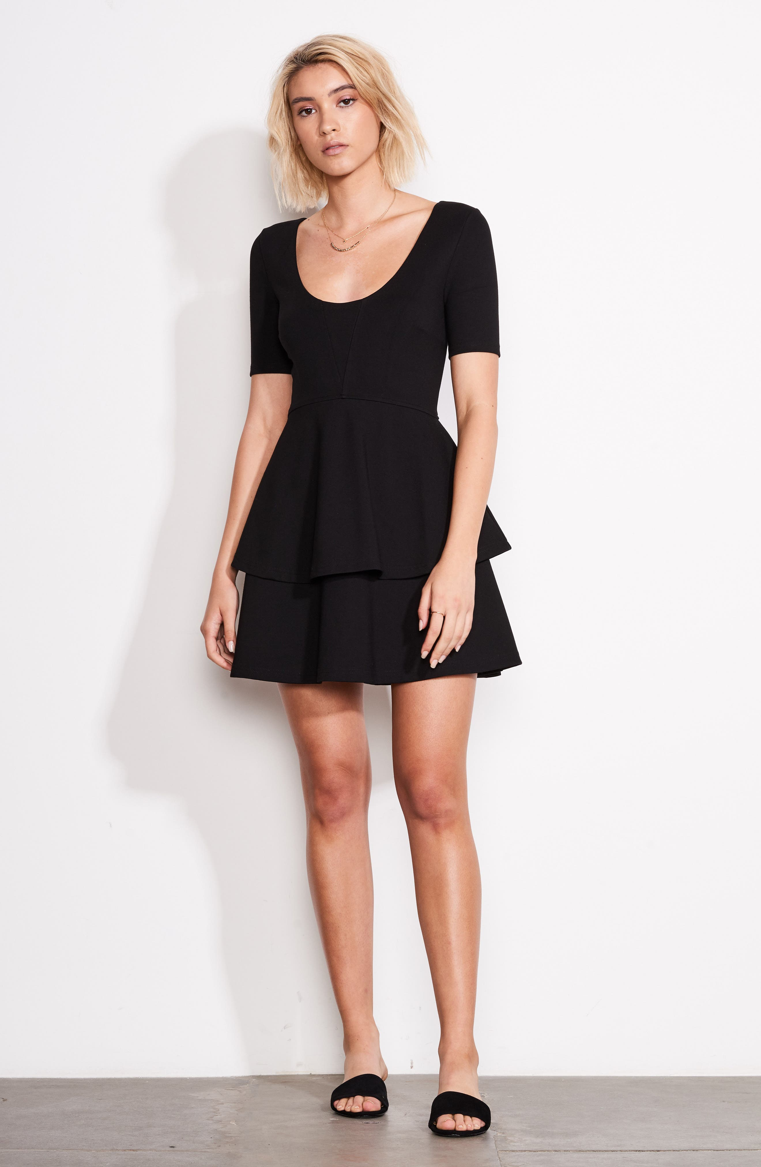 Isn't It Sweet Fit & Flare Dress,                             Alternate thumbnail 2, color,                             Black