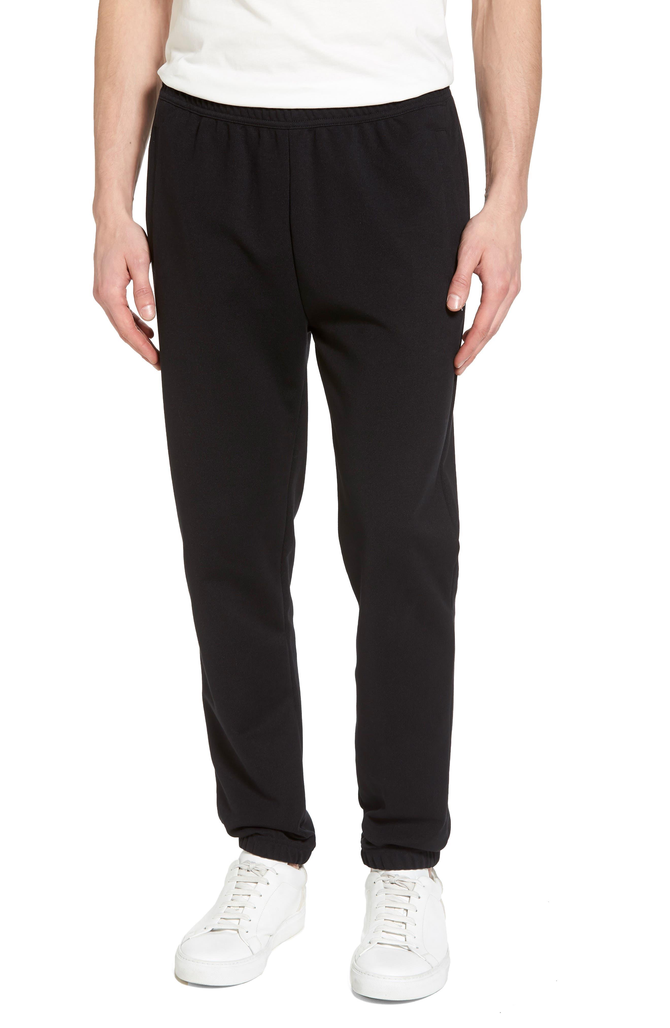 Reverse Tricot Track Pants,                             Main thumbnail 1, color,                             Black