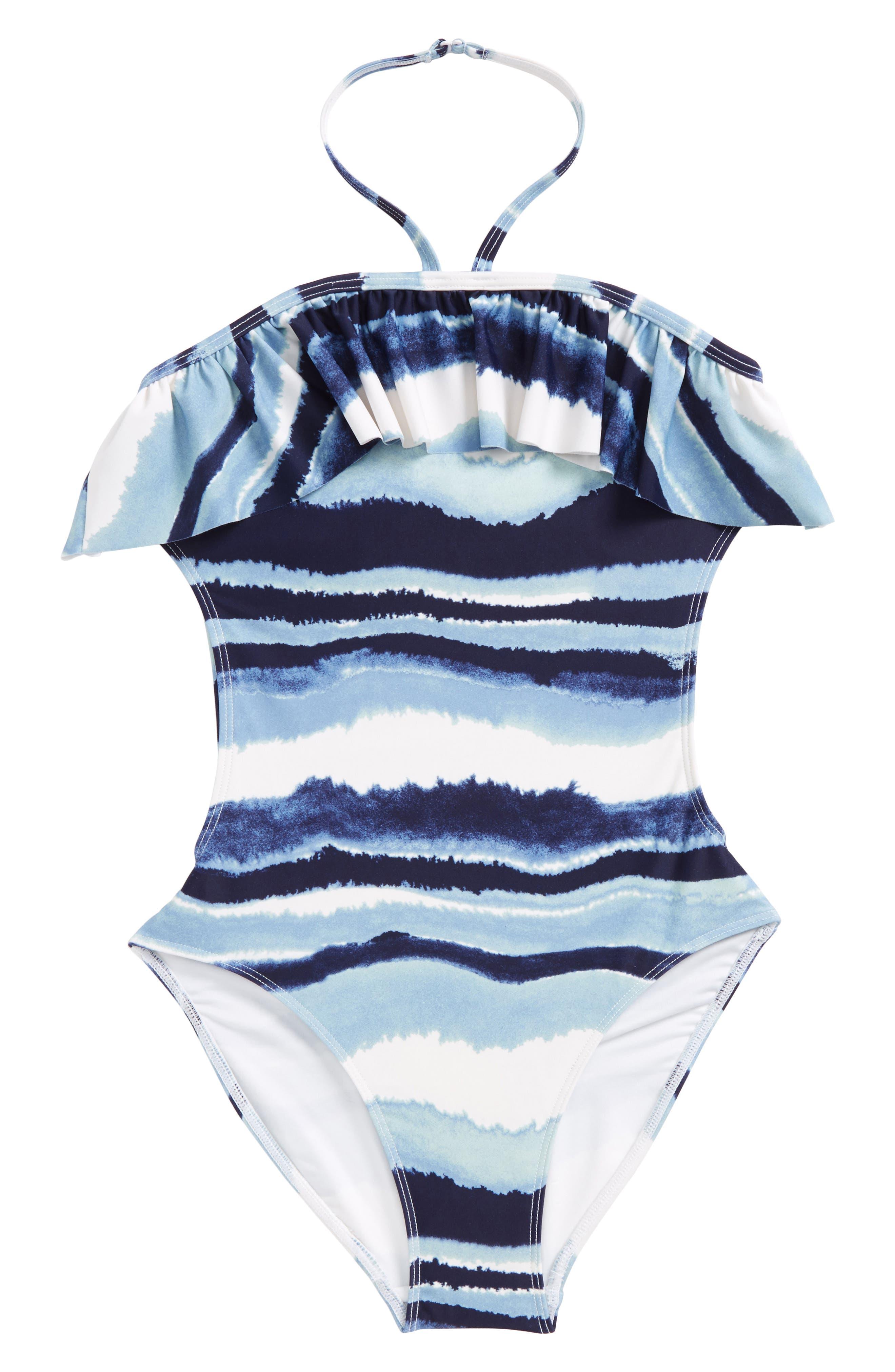 Alternate Image 1 Selected - Tucker + Tate One-Piece Halter Swimsuit (Big Girls)