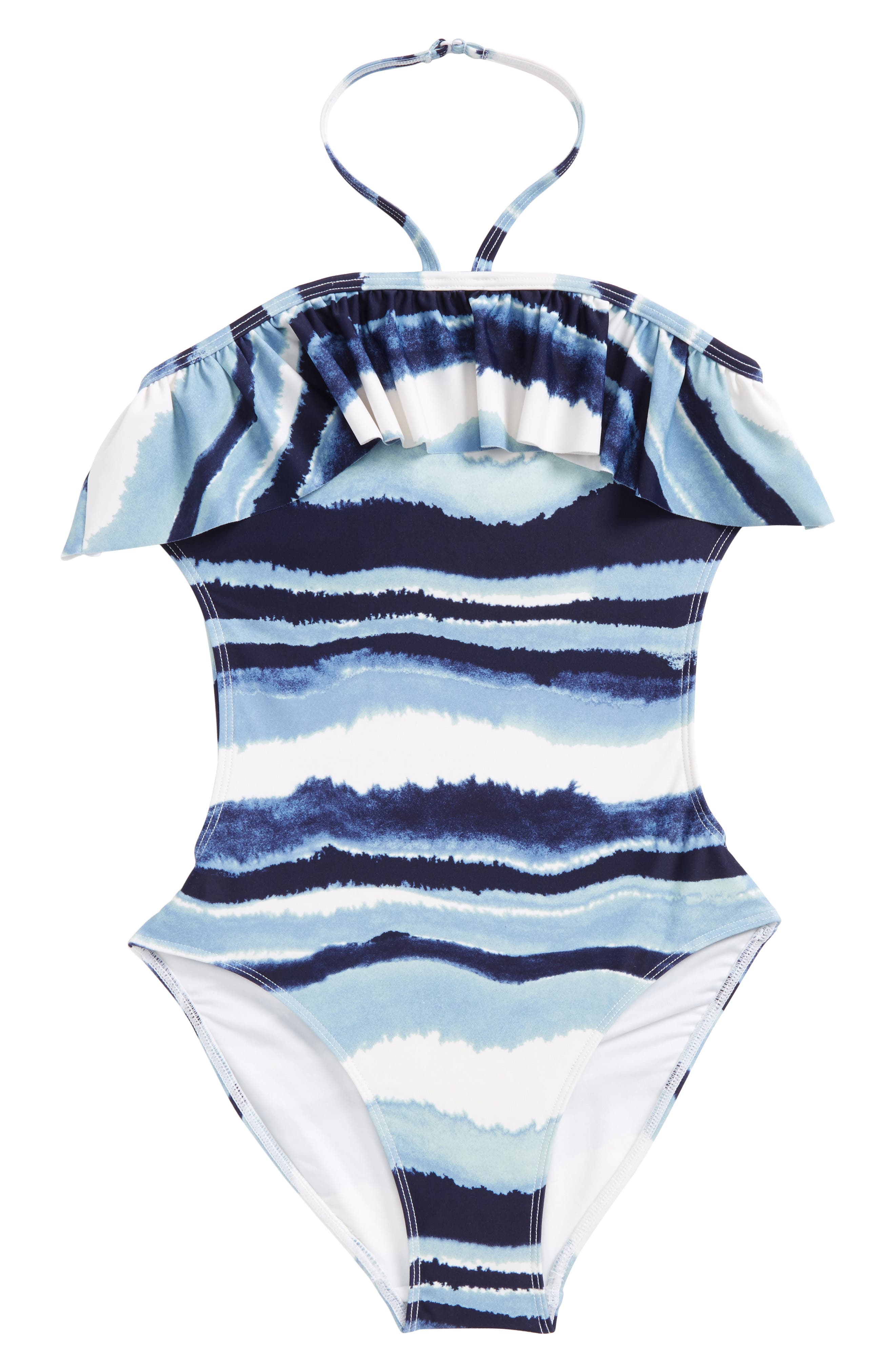 Tucker + Tate One-Piece Halter Swimsuit (Big Girls)