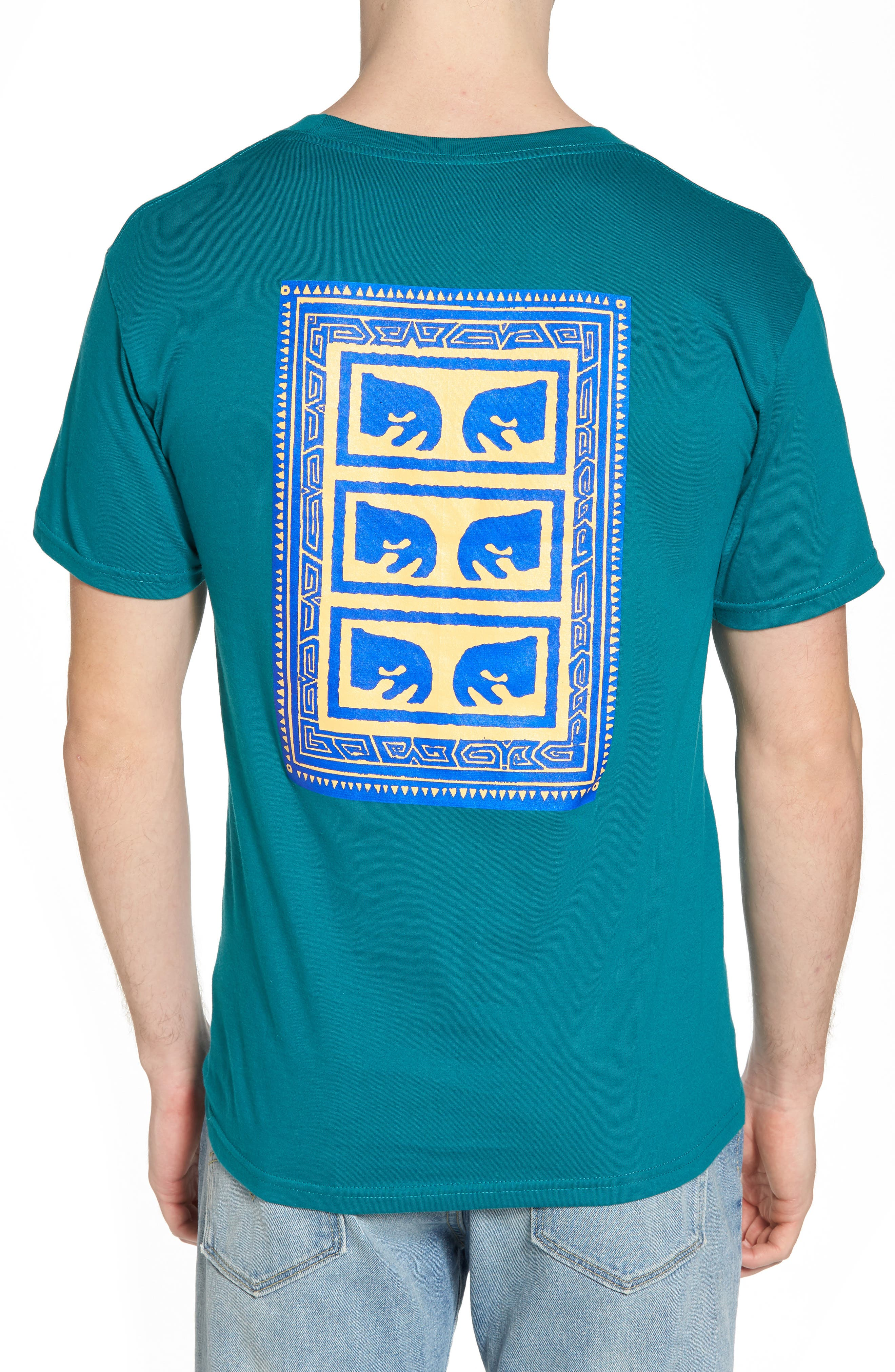 Flashback Graphic T-Shirt,                             Alternate thumbnail 2, color,                             Teal