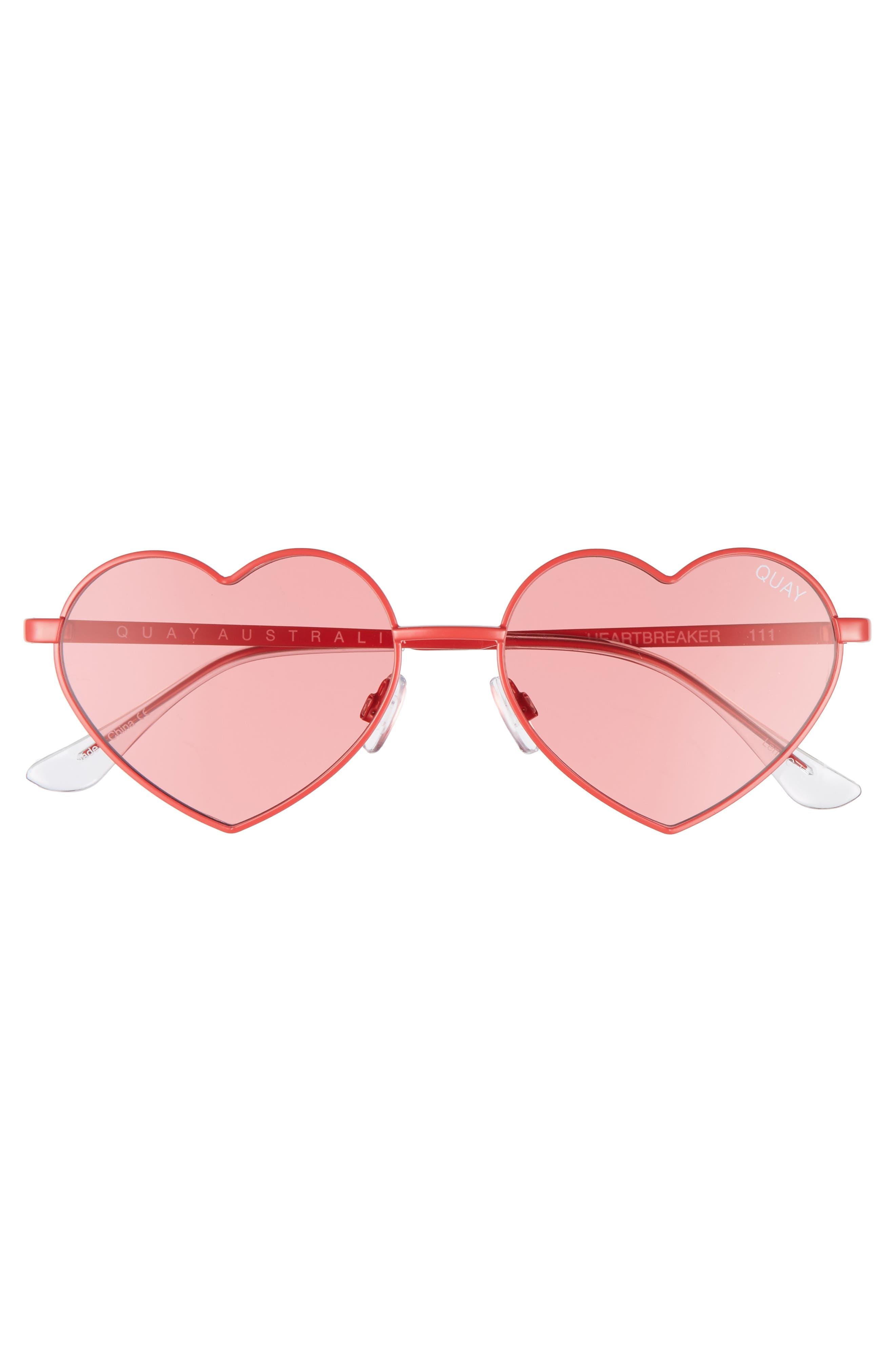 Alternate Image 7  - Quay Australia 53mm Heart Breaker Heart-Shaped Sunglasses