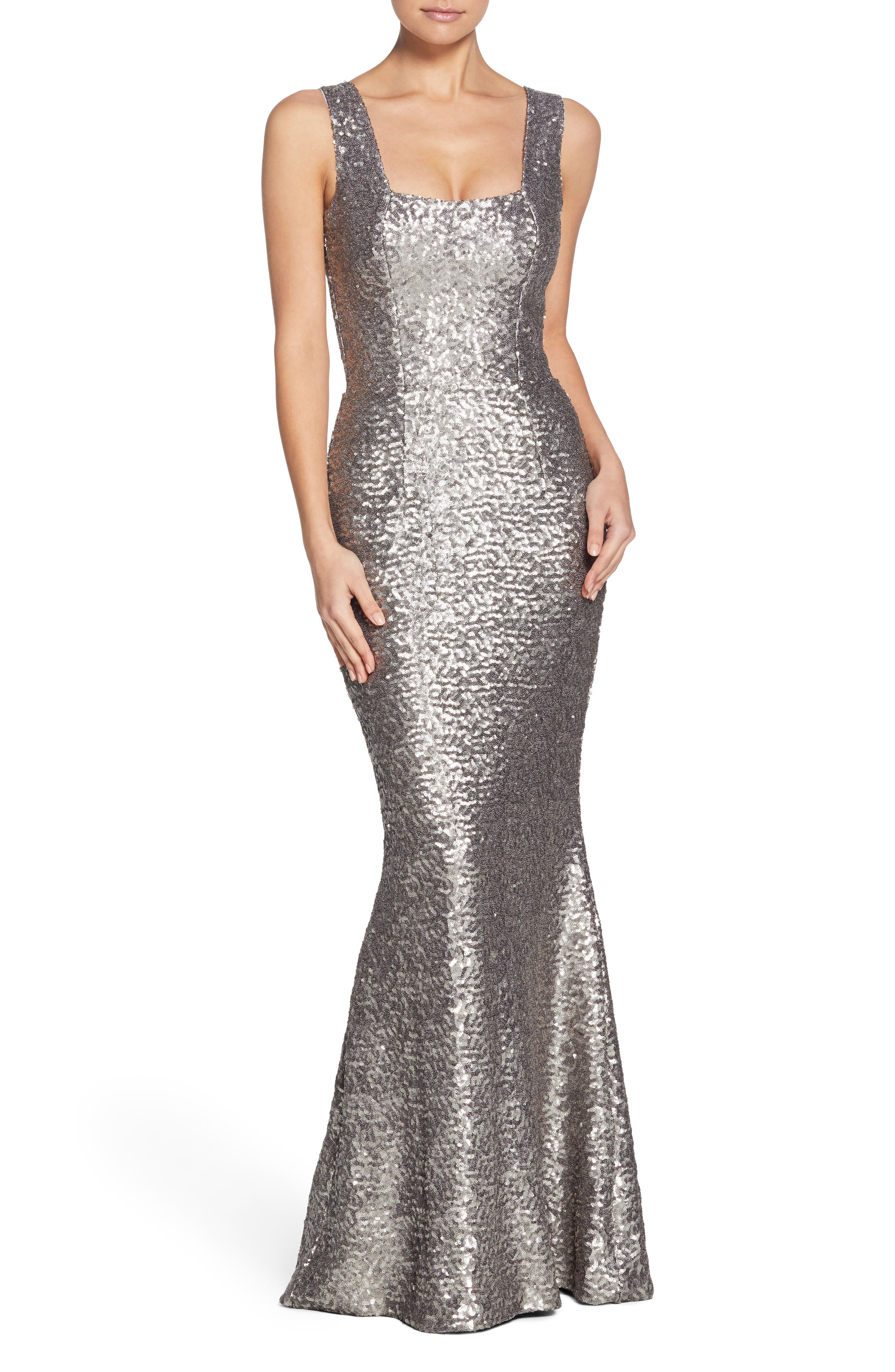Main Image - Dress the Population Raven Sequin Gown