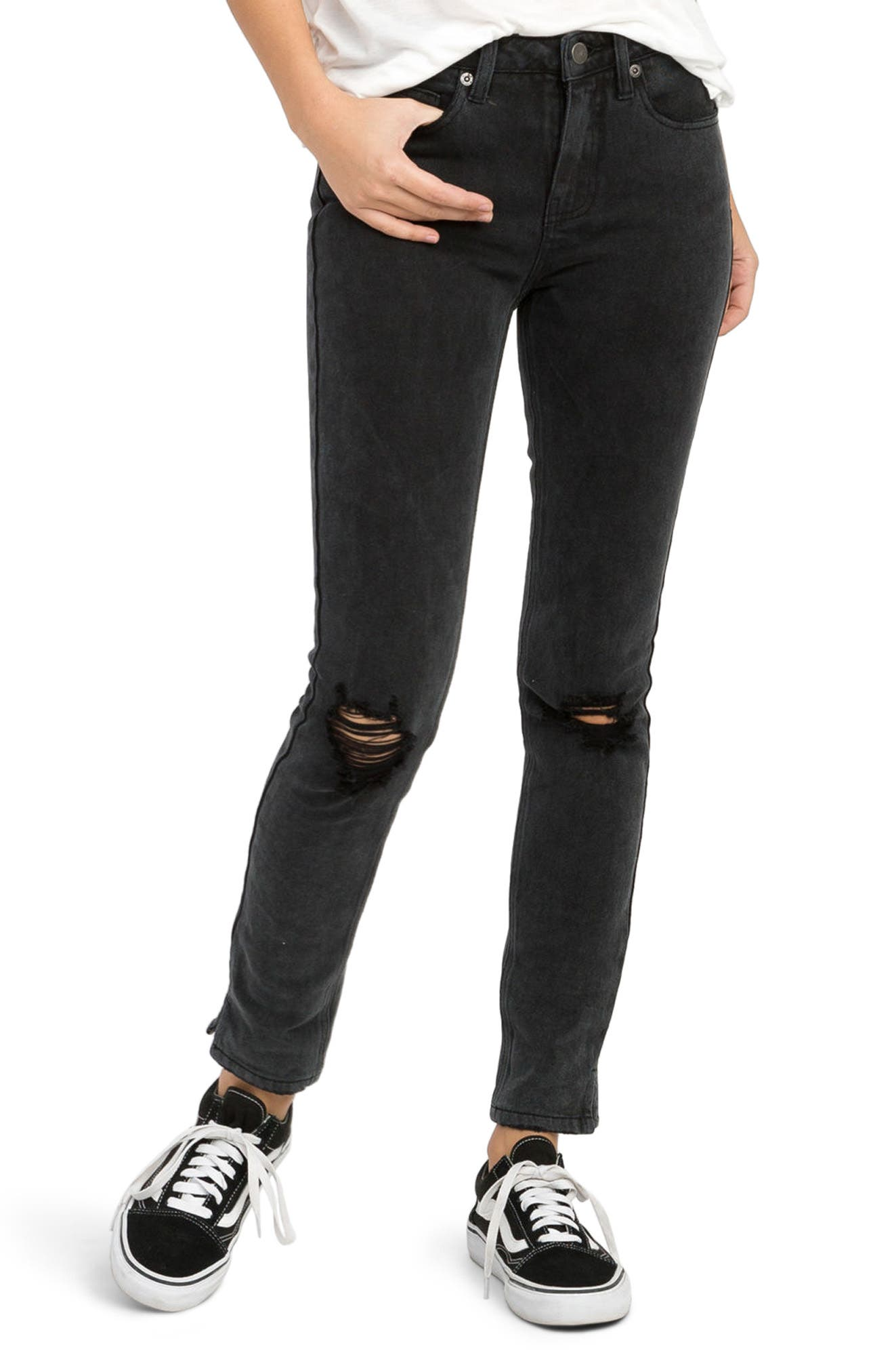 Alternate Image 1 Selected - RVCA Dayley Skinny Jeans