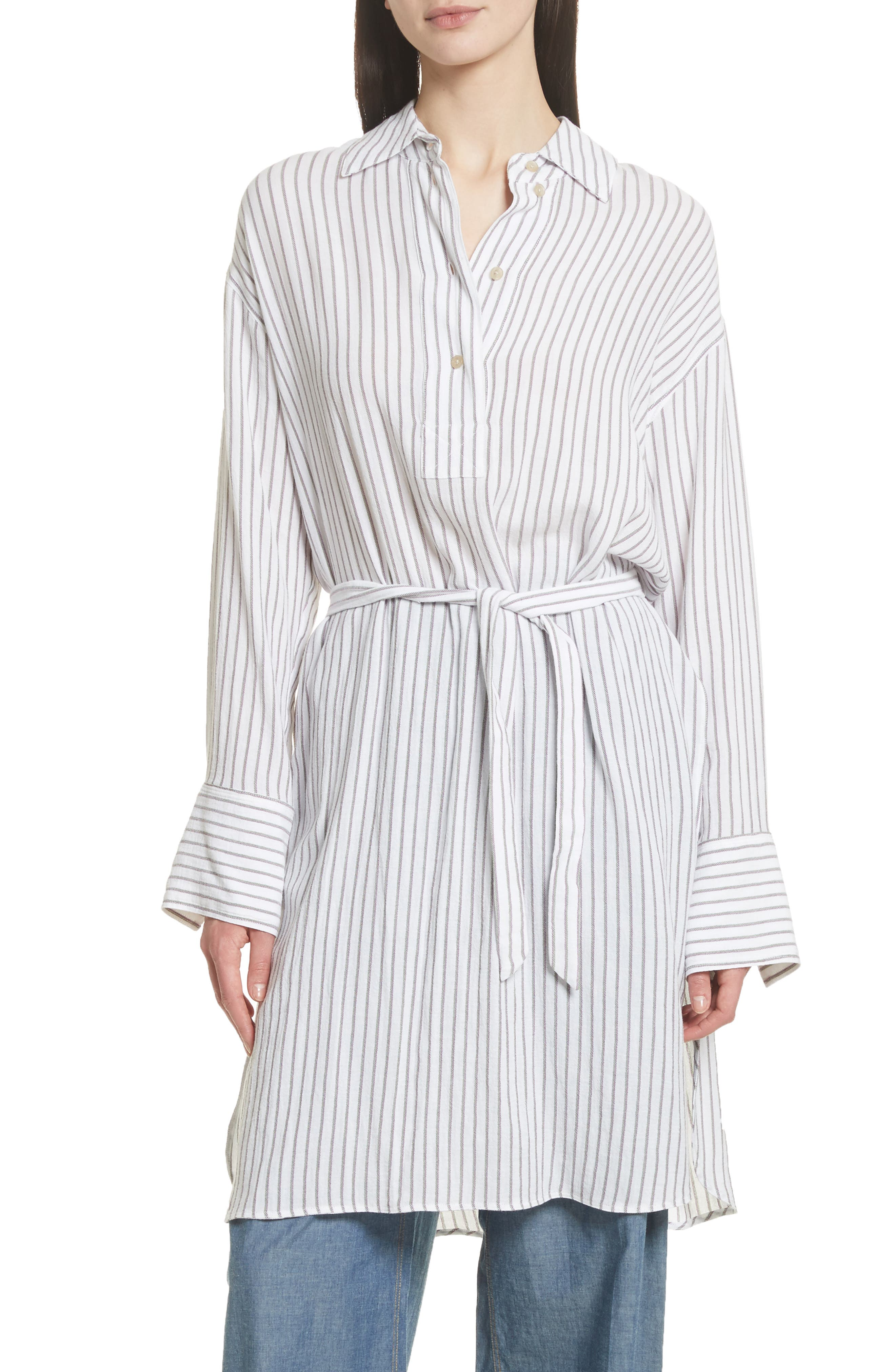Tawerence Stripe Belted Tunic,                             Main thumbnail 1, color,                             Multi