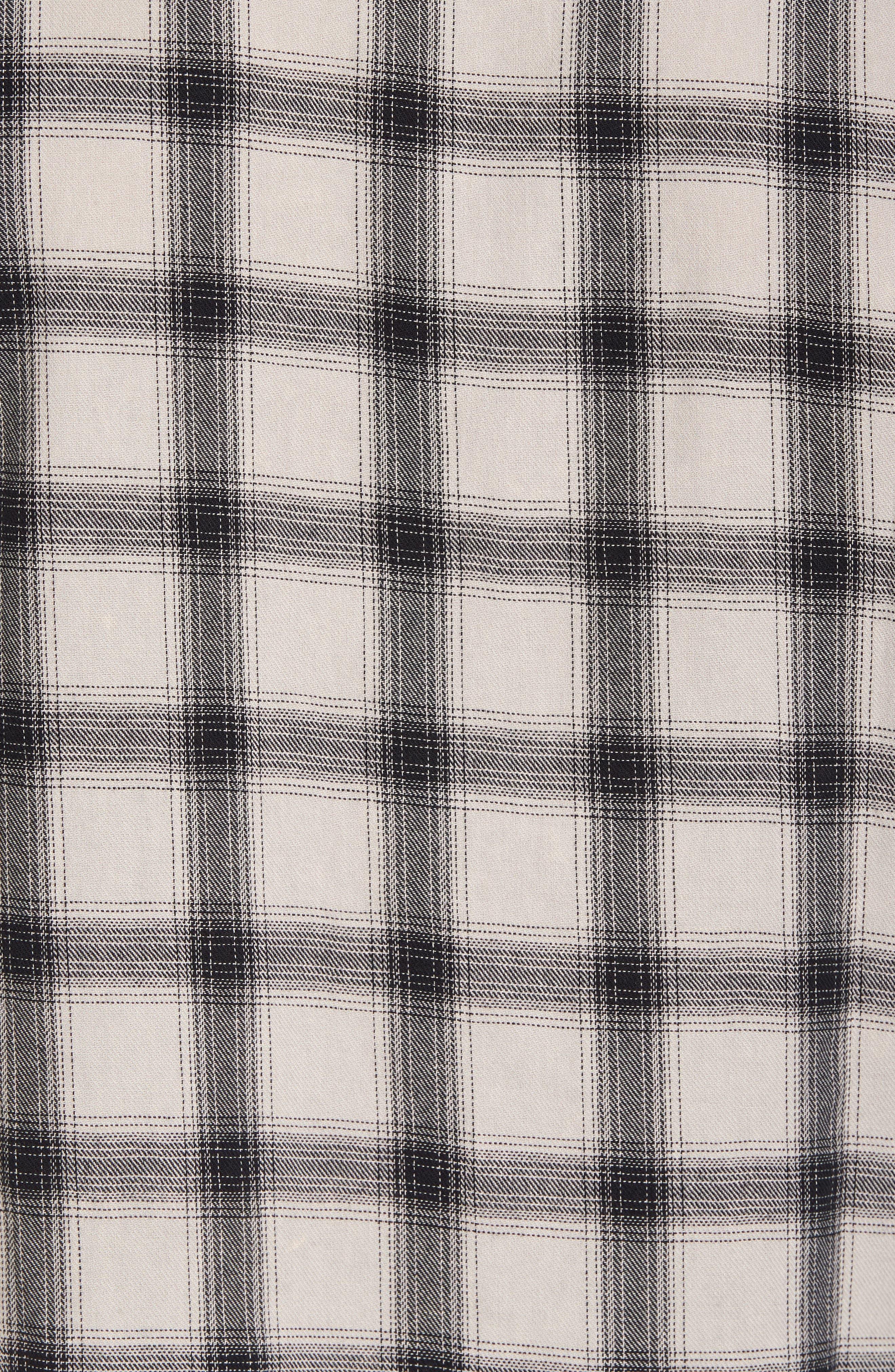 Colton Slim Fit Plaid Sport Shirt,                             Alternate thumbnail 5, color,                             15 Years Mineral Veil/ Black