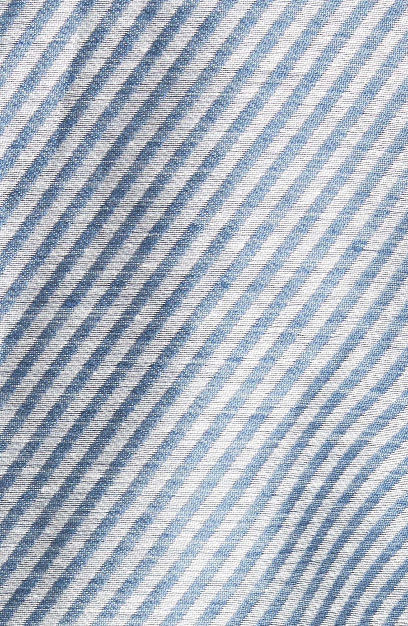 Alternate Image 5  - Lafayette 148 New York Jasmine Stripe Linen Blend Blazer
