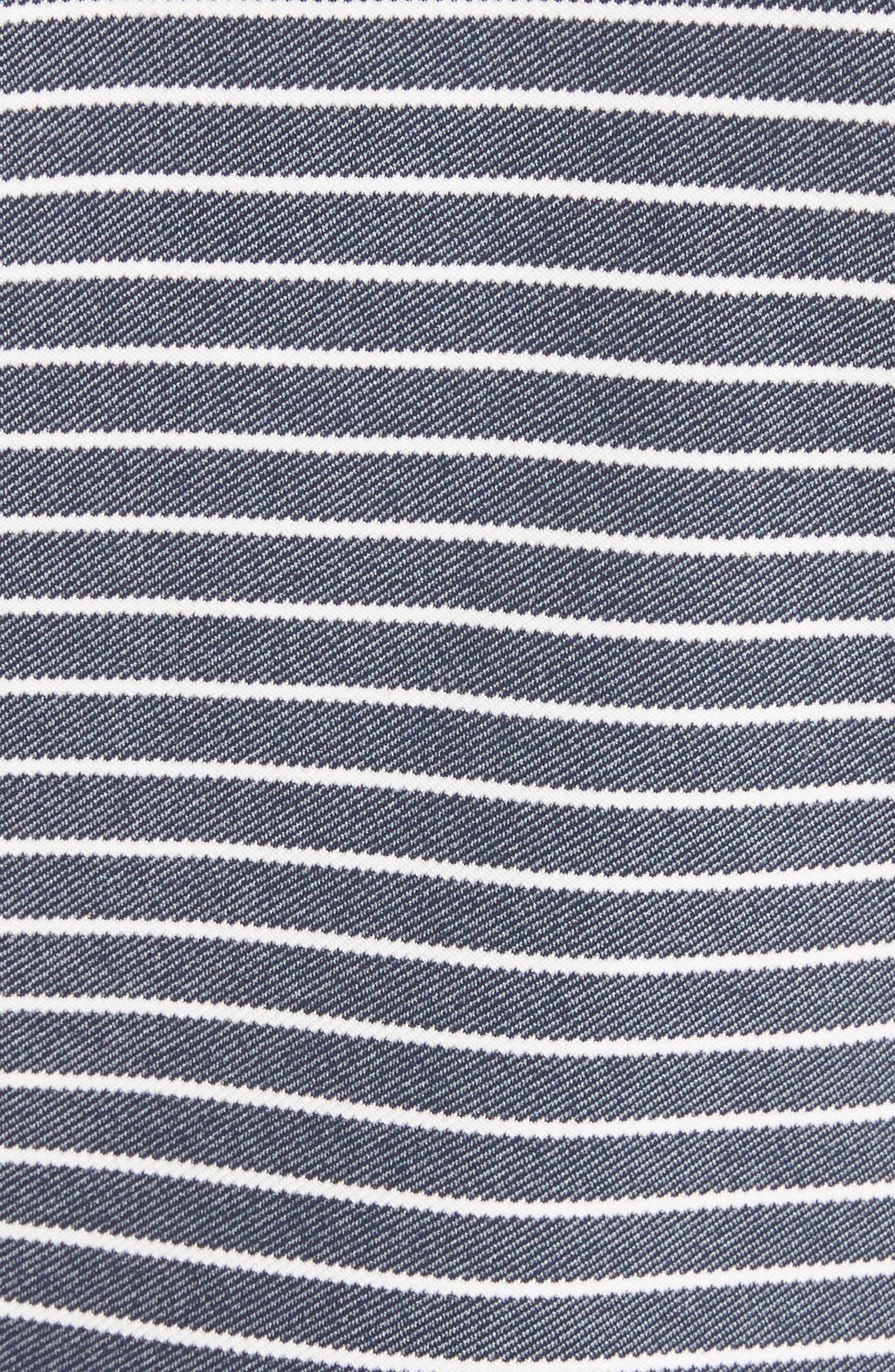 Julius Stripe Denim Twill Jacket,                             Alternate thumbnail 5, color,                             Indigo Multi