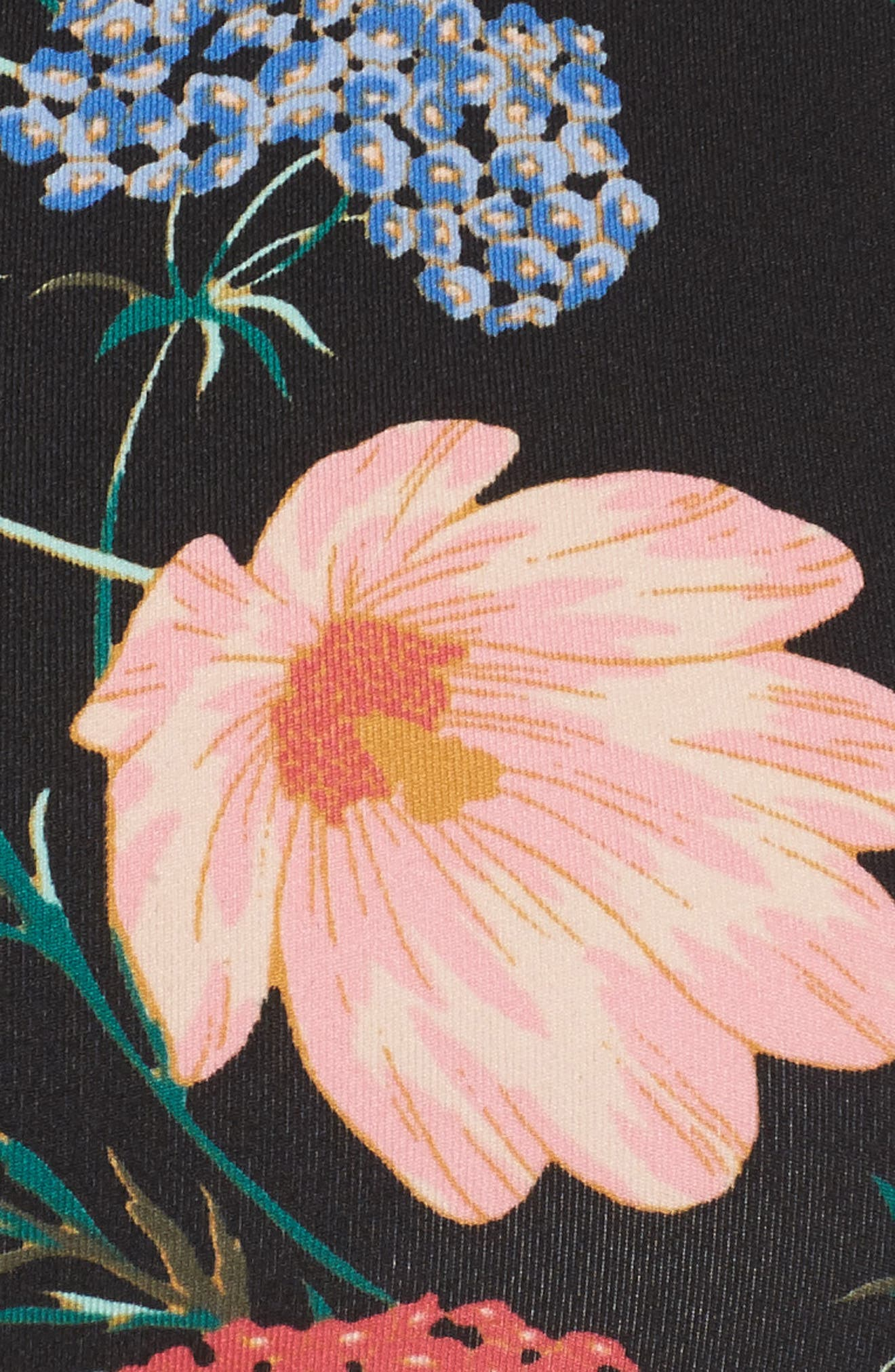blossom sports bra,                             Alternate thumbnail 6, color,                             Black