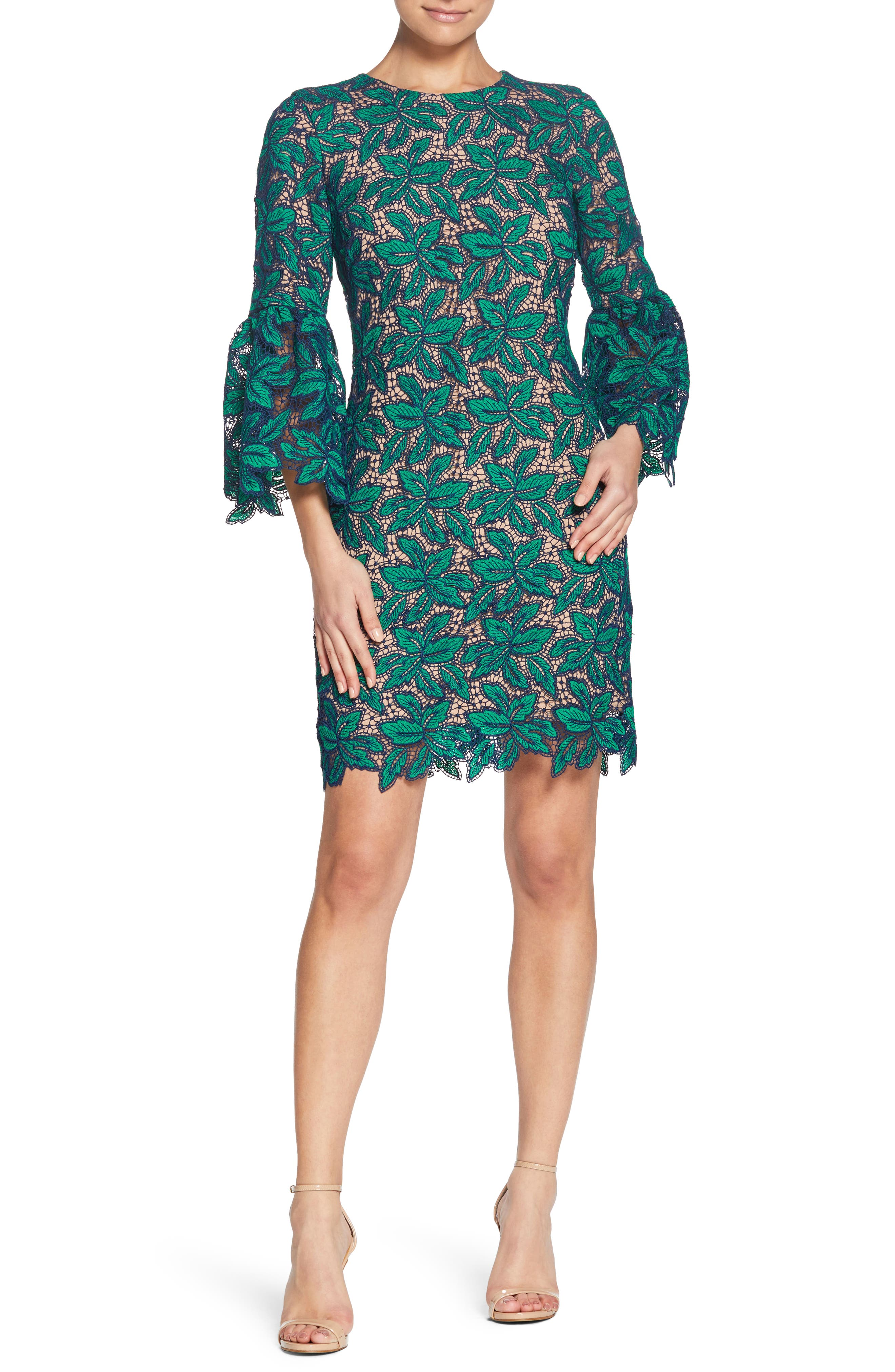 Dress the Population Paige Crochet Shift Dress