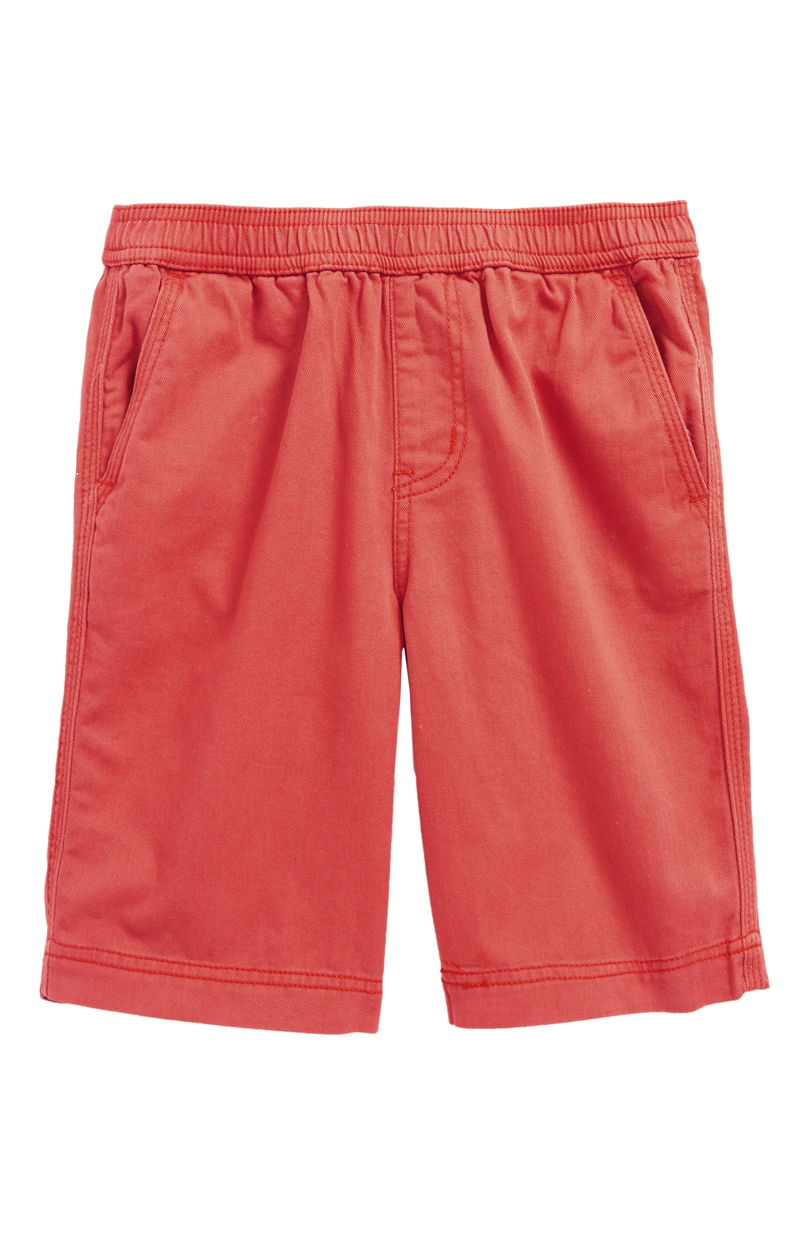 Easy Does It Twill Shorts,                             Main thumbnail 1, color,                             Red Dressy Plaid