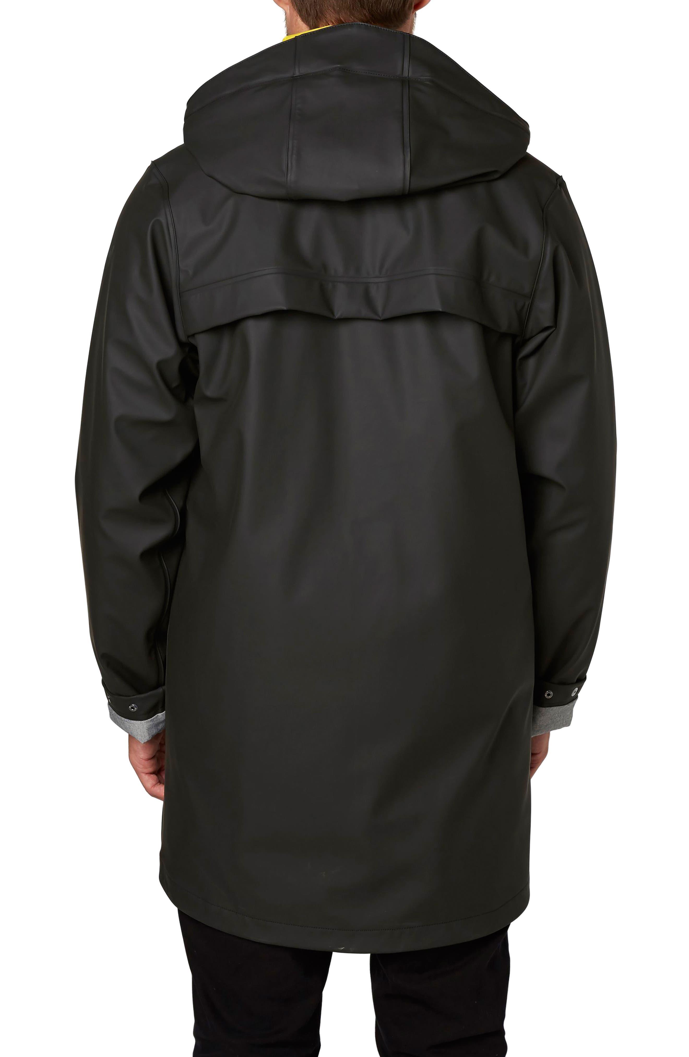 Copenhagen Raincoat,                             Alternate thumbnail 2, color,                             Black