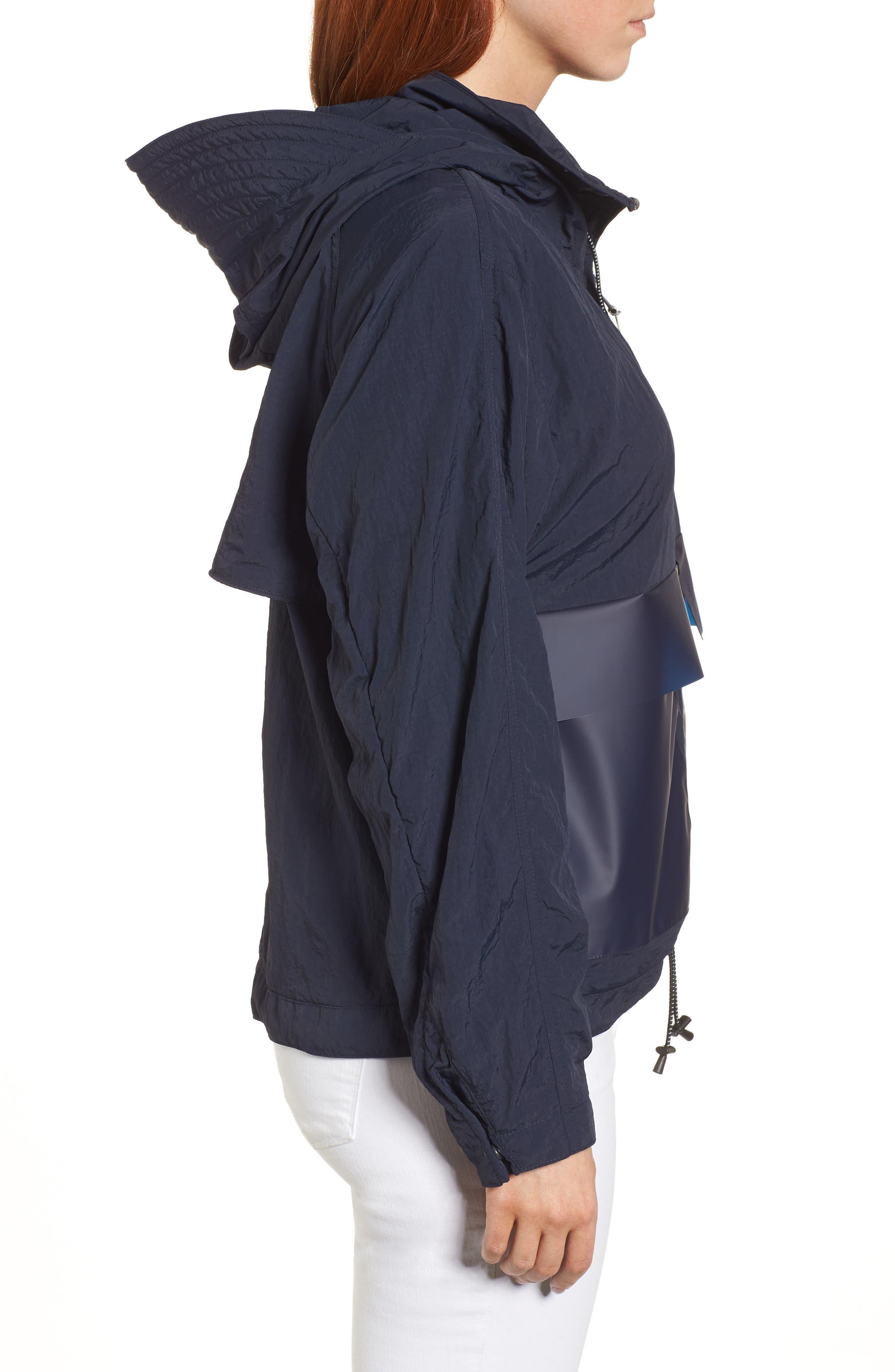 Lightweight Hooded Anorak,                             Alternate thumbnail 3, color,                             Navy
