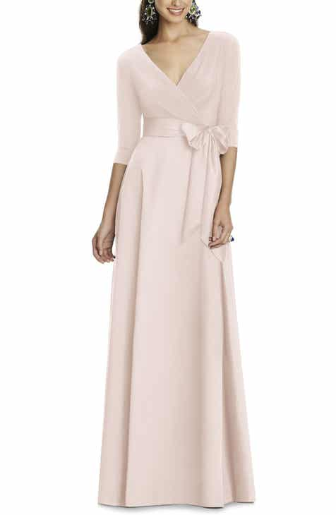 blush long dress | Nordstrom