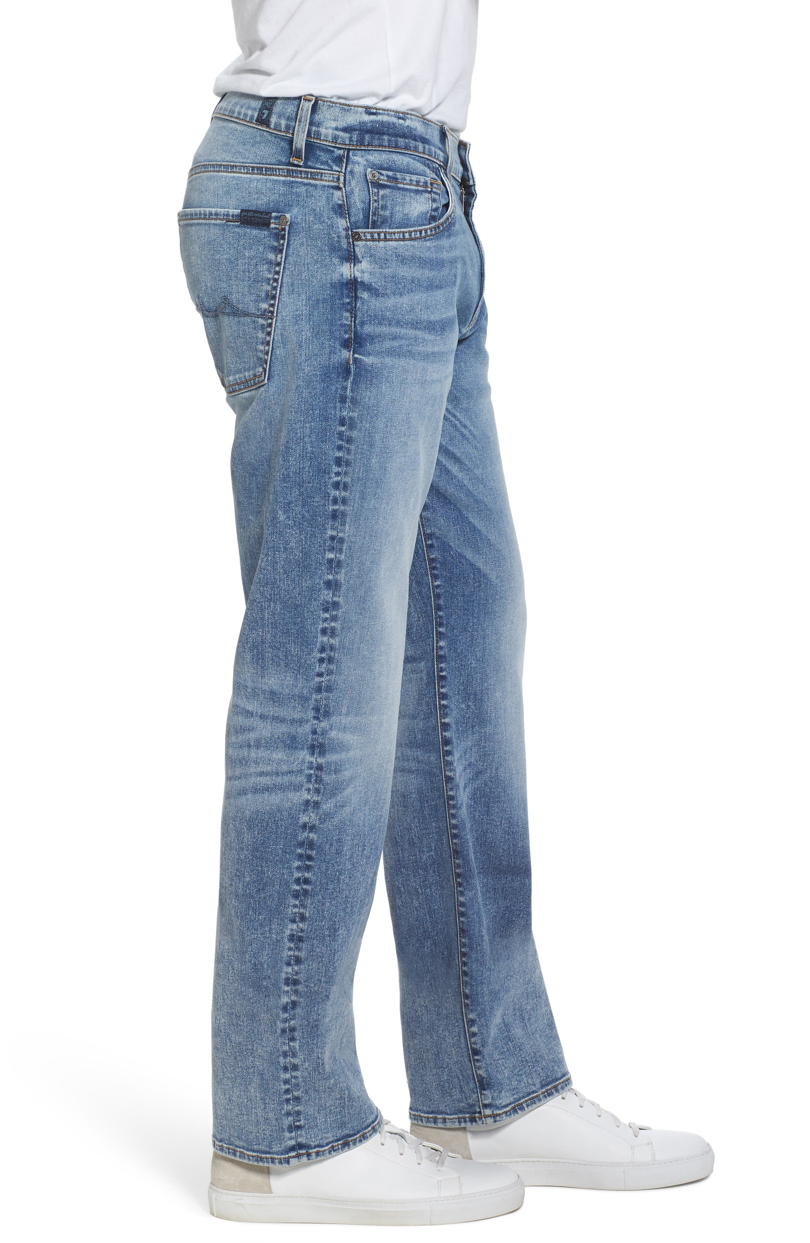 Austyn - Luxe Performance Relaxed Fit Jeans,                             Alternate thumbnail 3, color,                             Death Valley