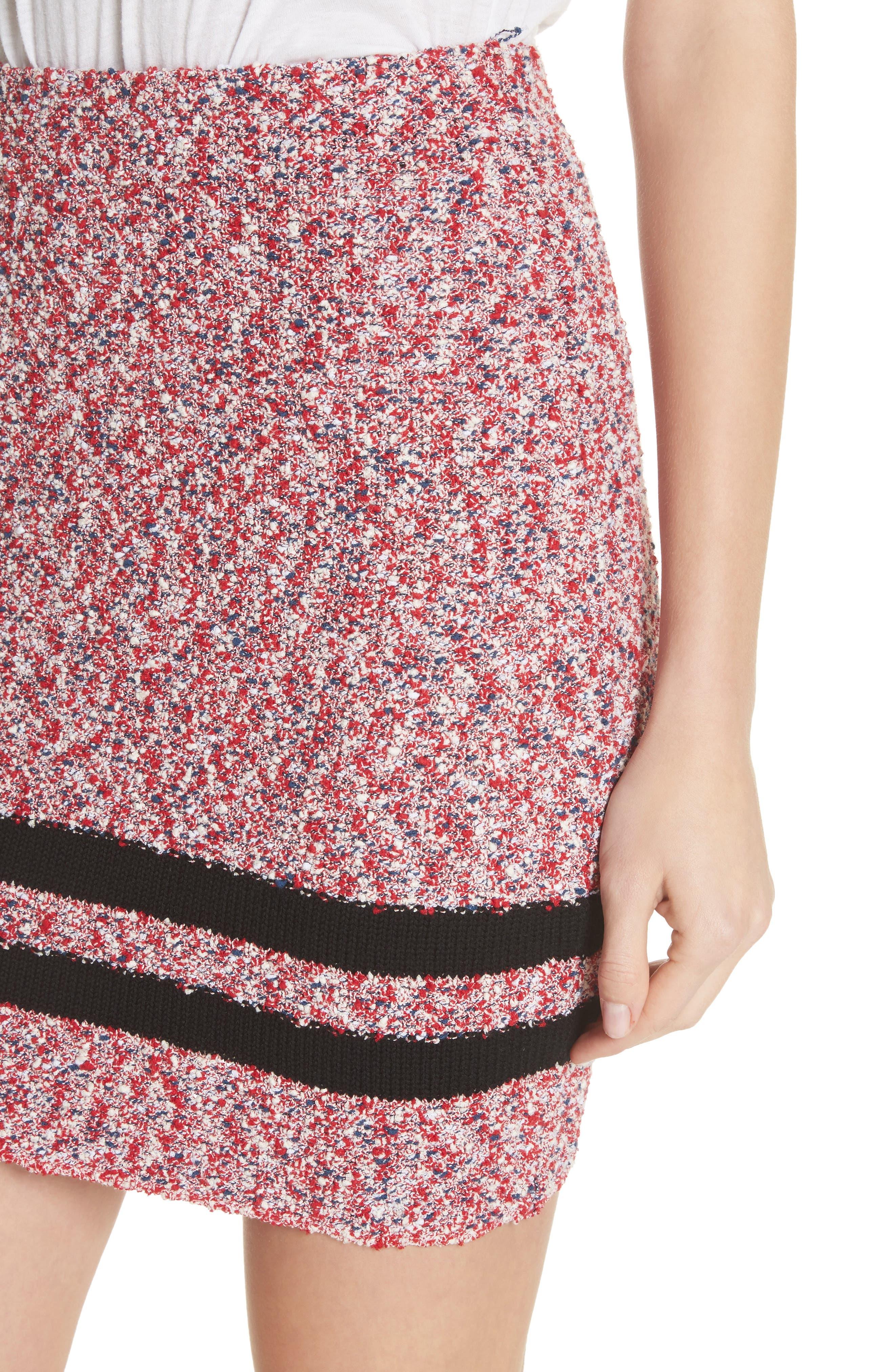 Halstead Tweed Skirt,                             Alternate thumbnail 4, color,                             Red