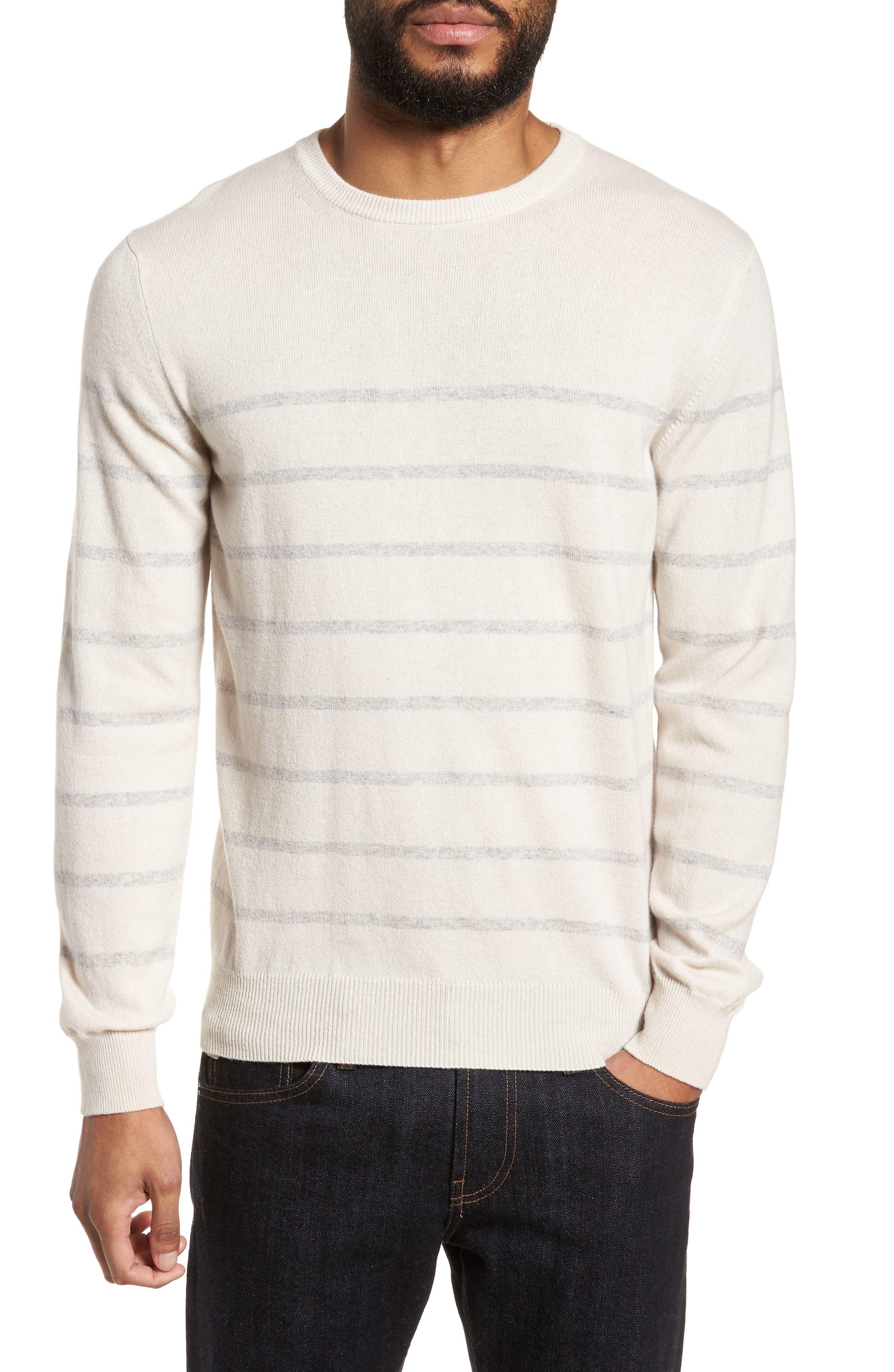 Cashmere Crewneck Sweater,                         Main,                         color, Ivory