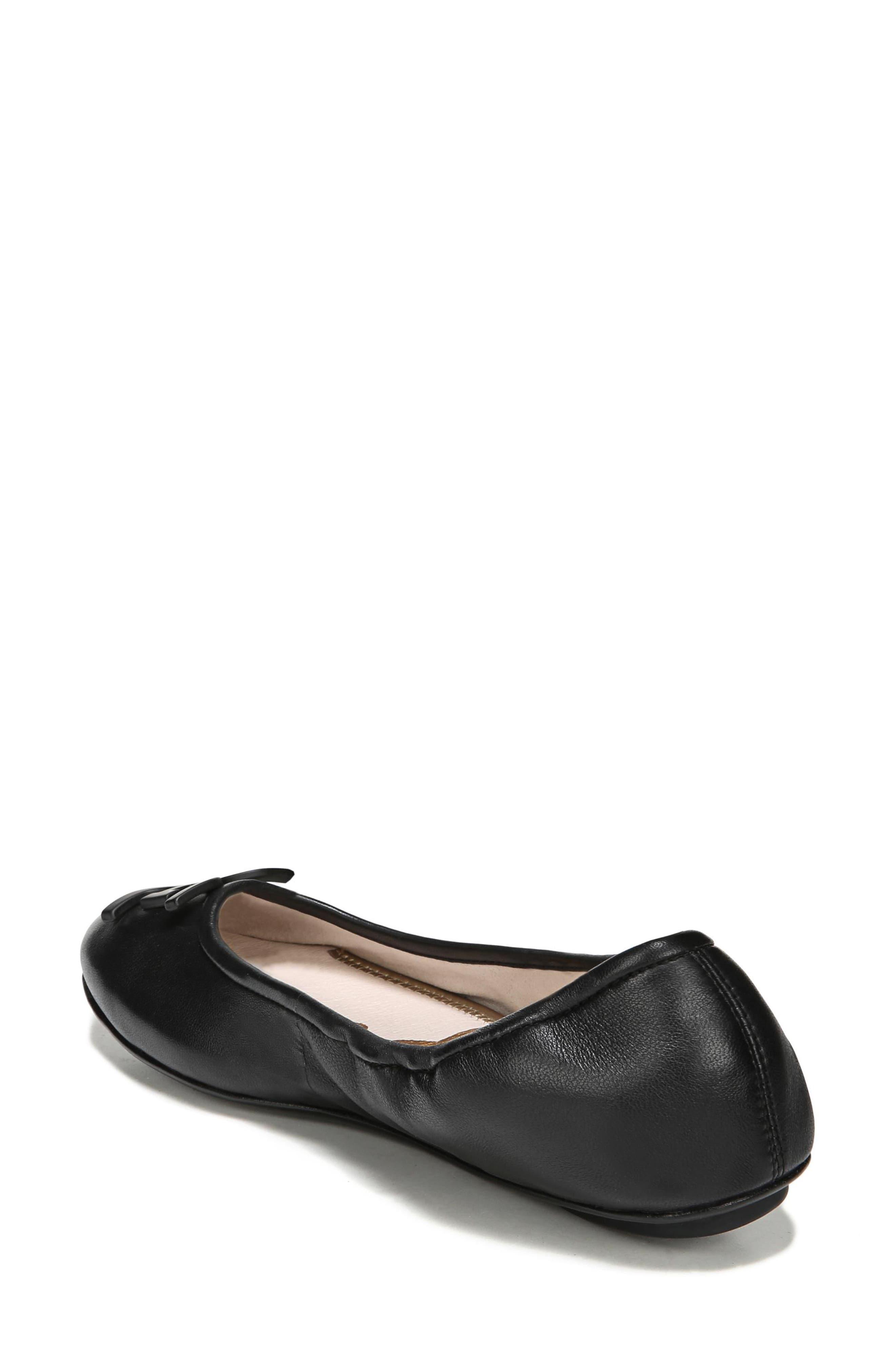 Florence Ballet Flat,                             Alternate thumbnail 2, color,                             Black Leather
