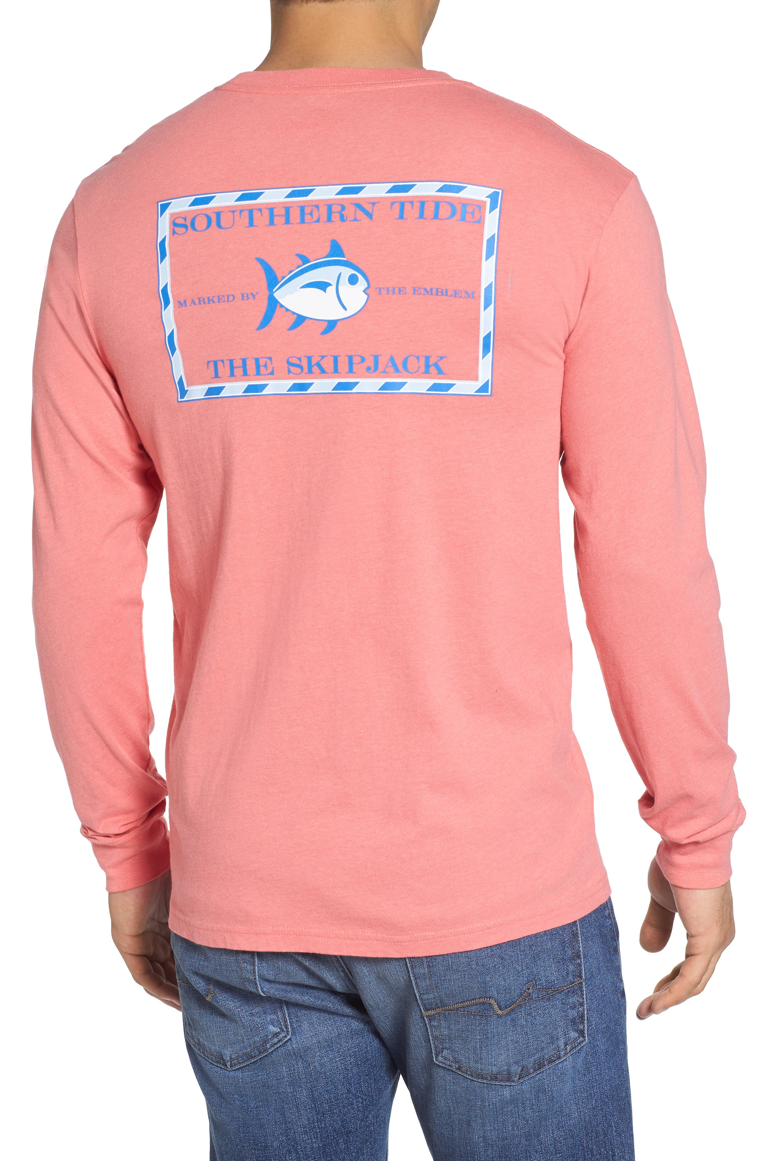 'Skipjack' Long Sleeve Graphic T-Shirt,                         Main,                         color, Shell Pink