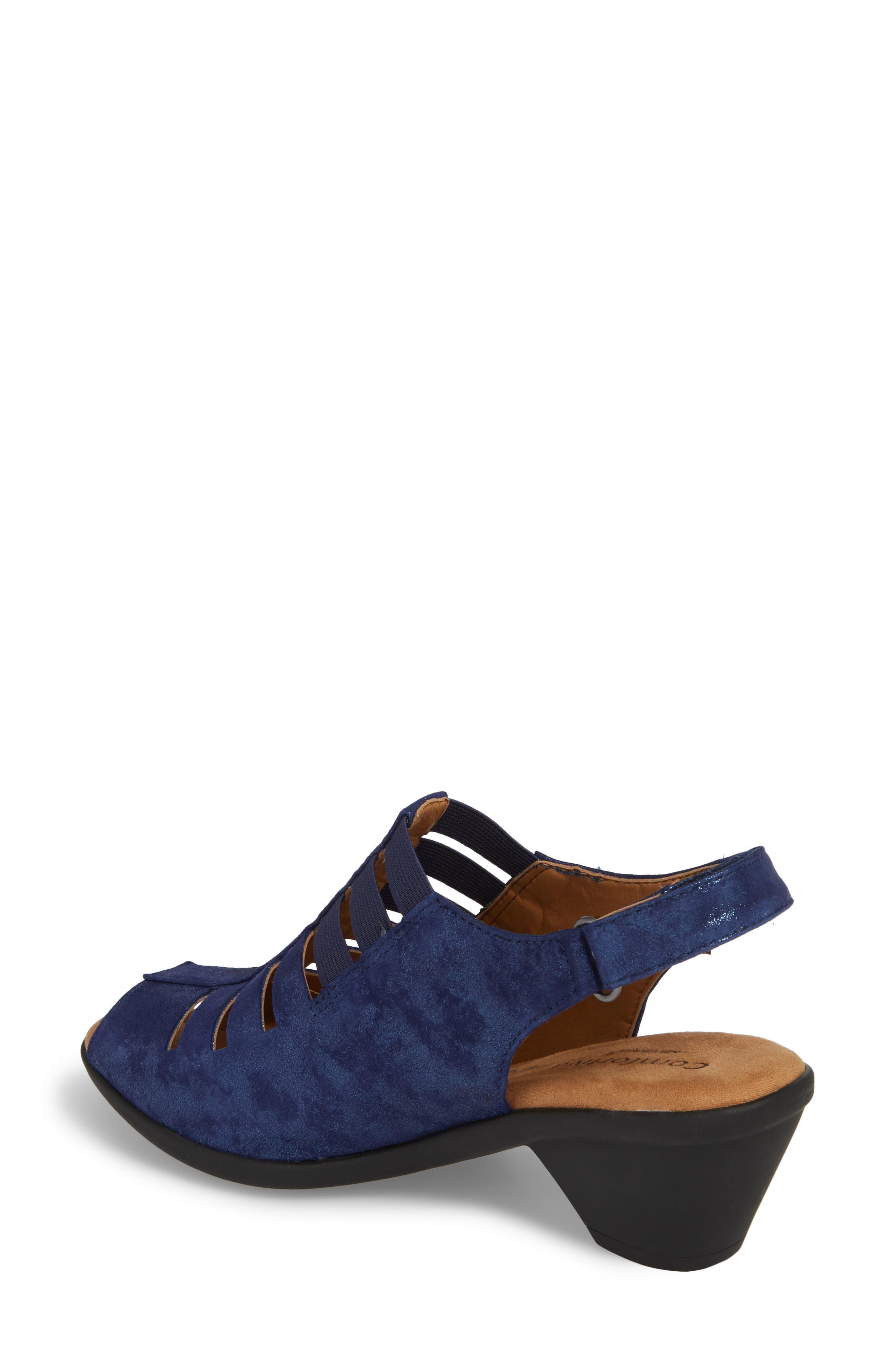 Faye Sandal,                             Alternate thumbnail 2, color,                             Pea Coat Navy Leather