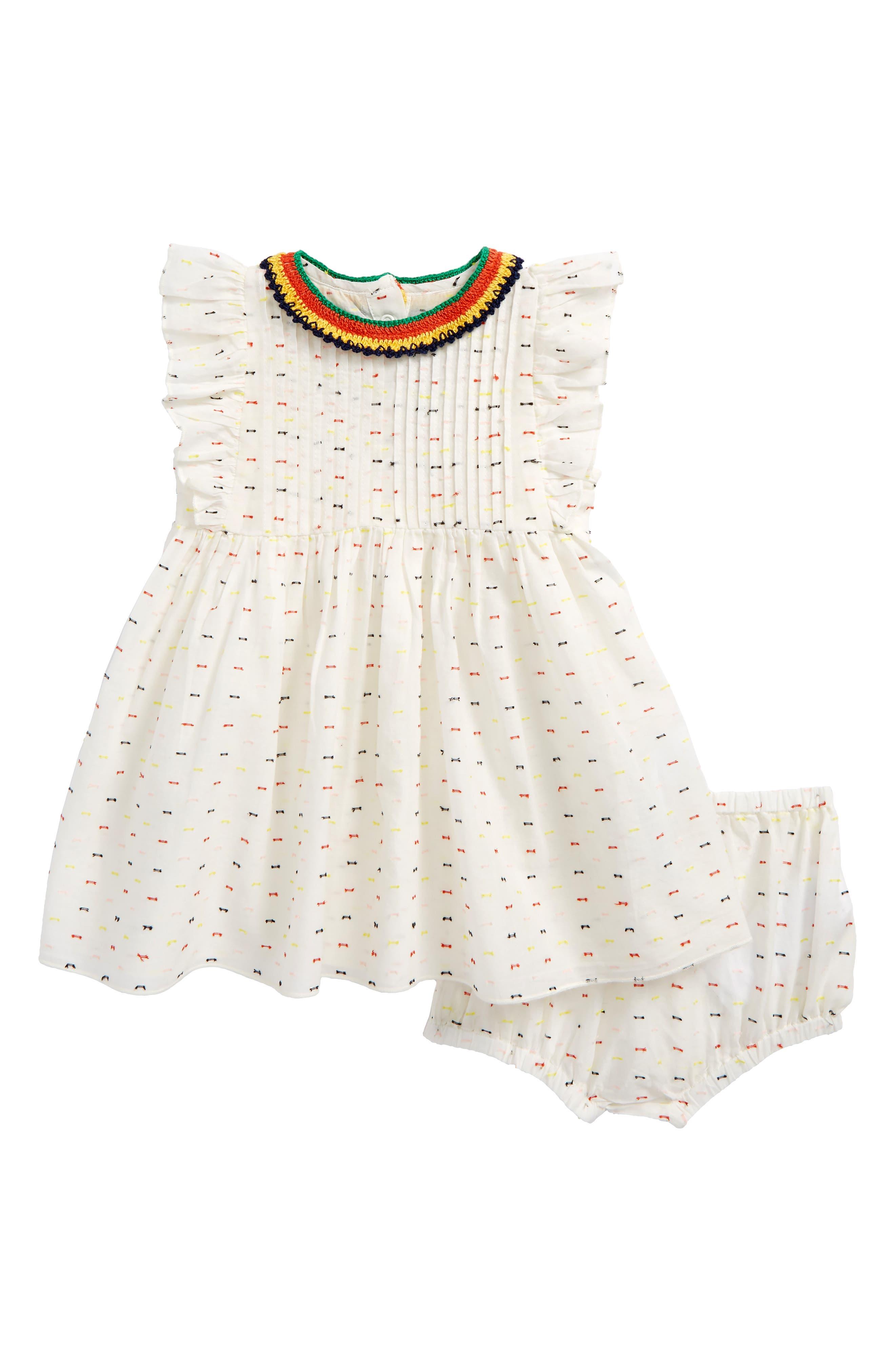 Stella McCartney Apricot Stitched Dress (Baby Girls)