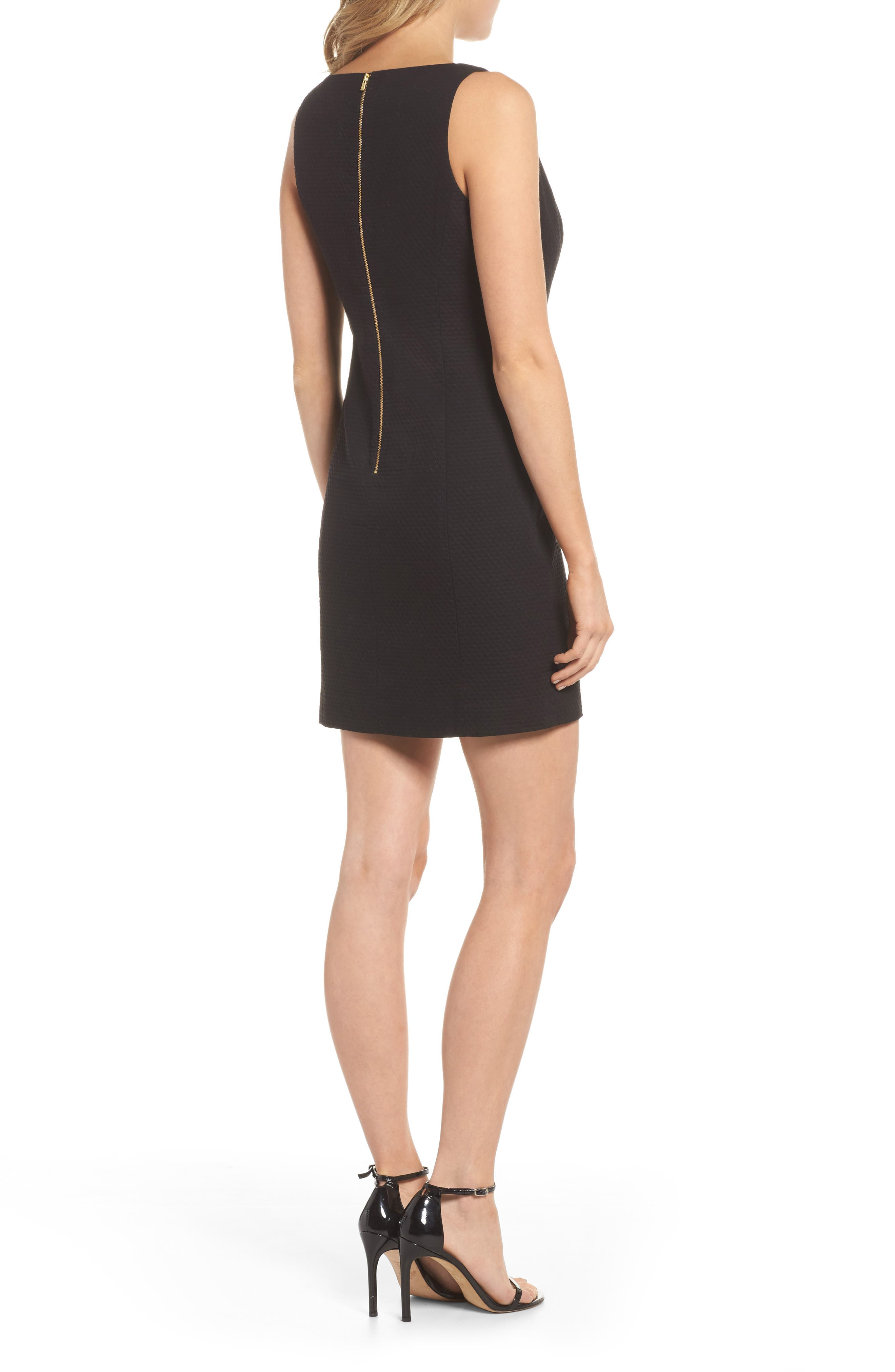 Gabby Sheath Dress,                             Alternate thumbnail 2, color,                             Onyx