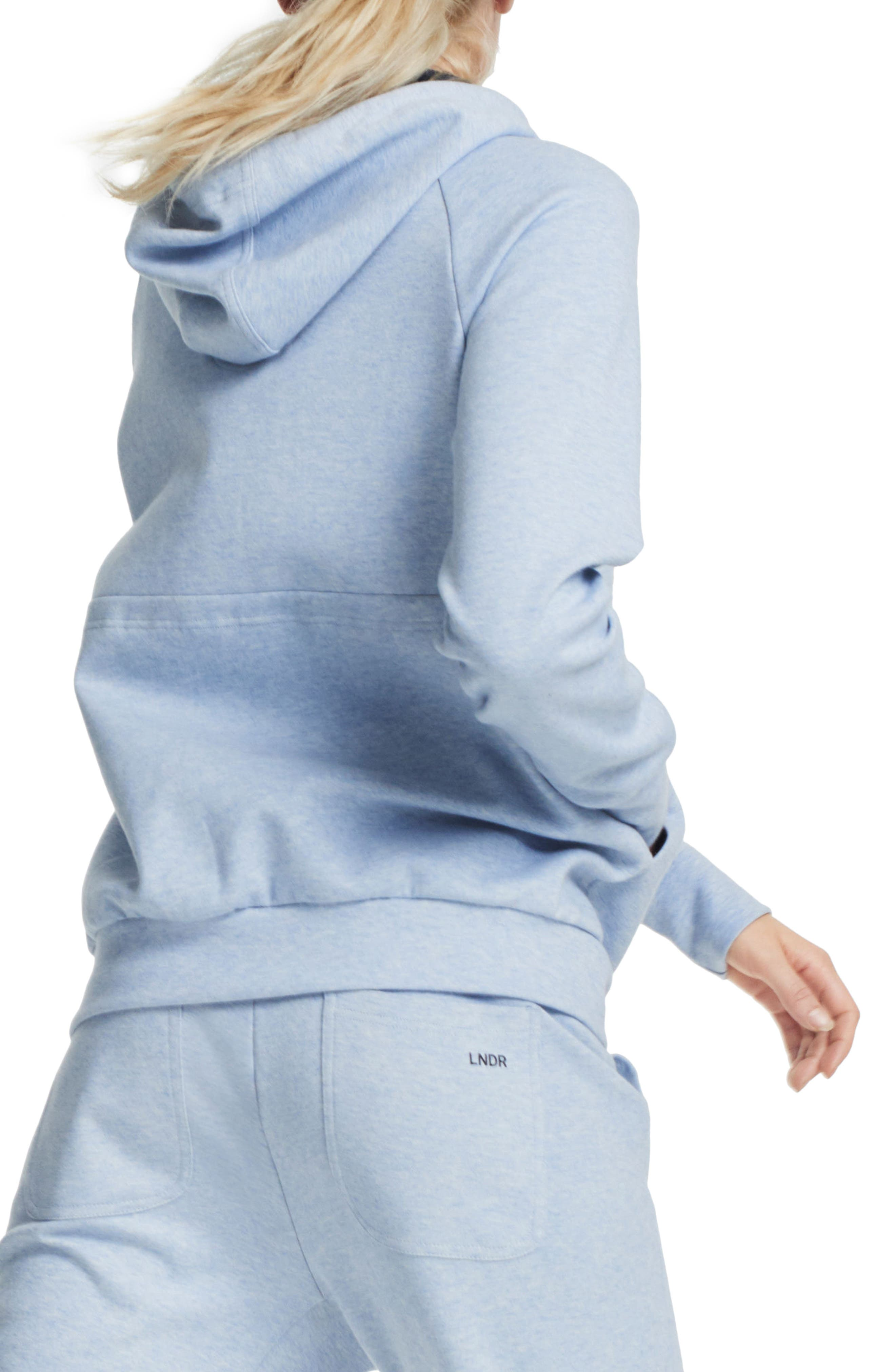 Synergy Zip-Up Hoodie,                             Alternate thumbnail 2, color,                             Light Blue