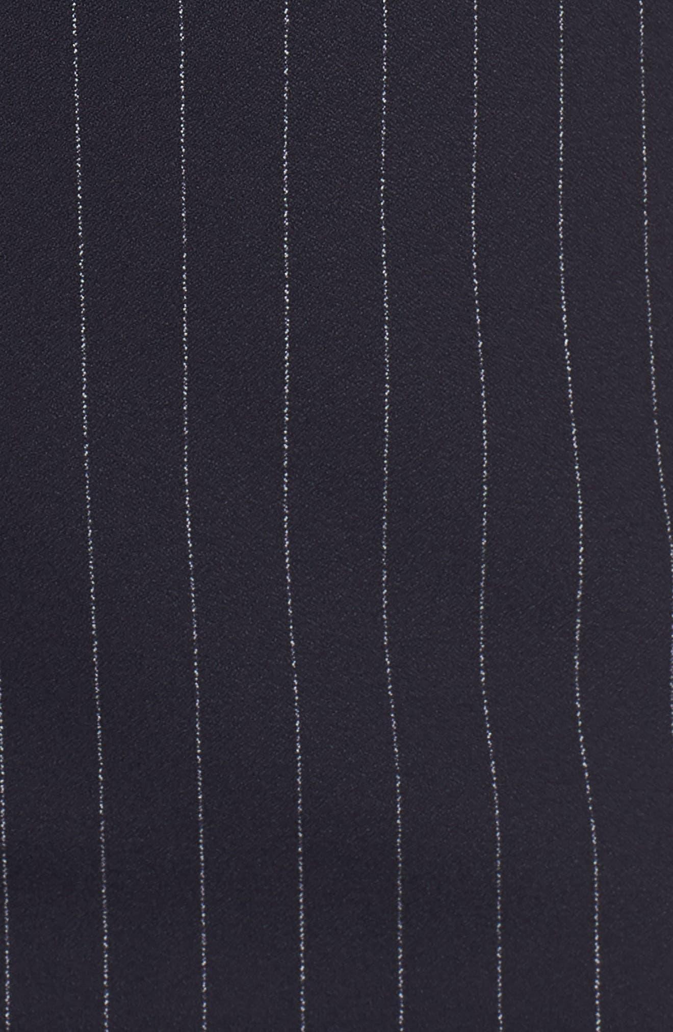 Dalayara Pinstripe Sheath Dress,                             Alternate thumbnail 5, color,                             Navy Fantasy