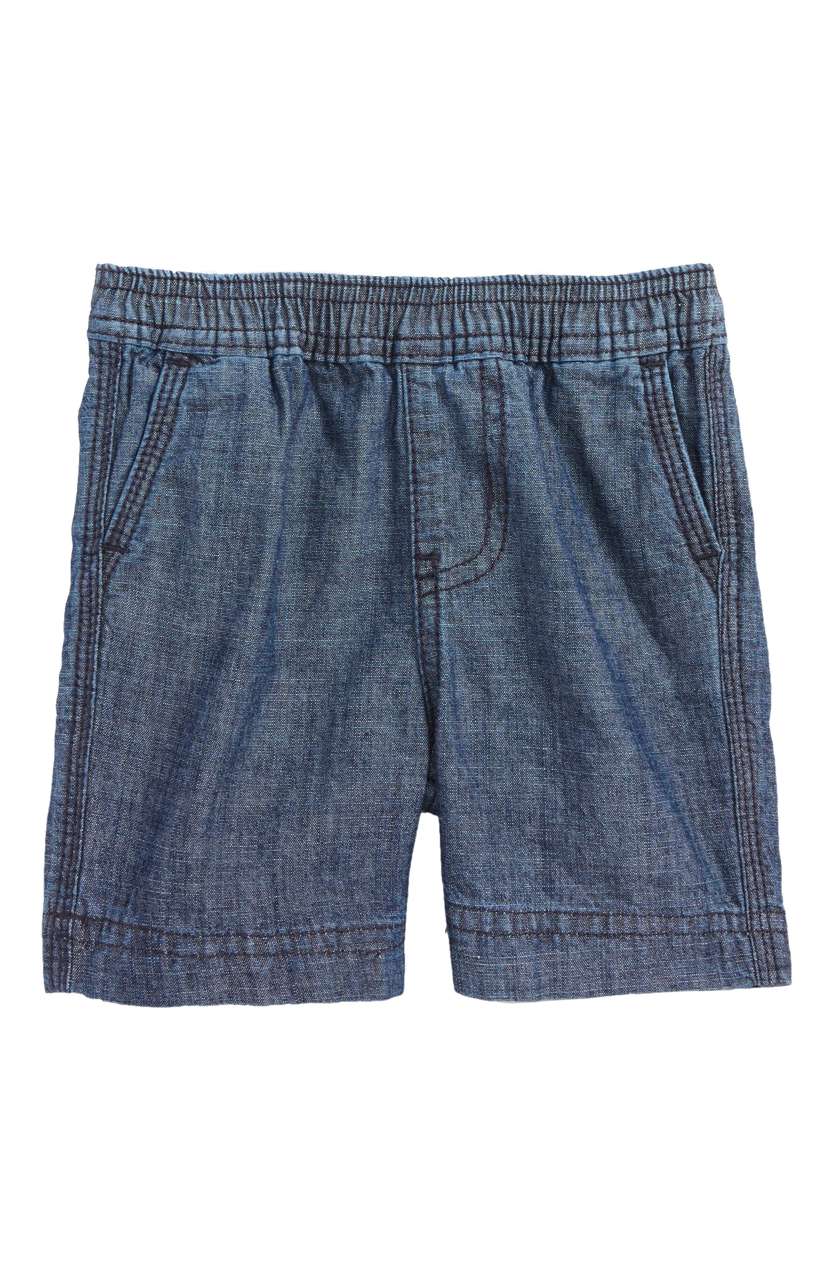 Easy Does It Chambray Shorts,                             Main thumbnail 1, color,                             Blue Chambray