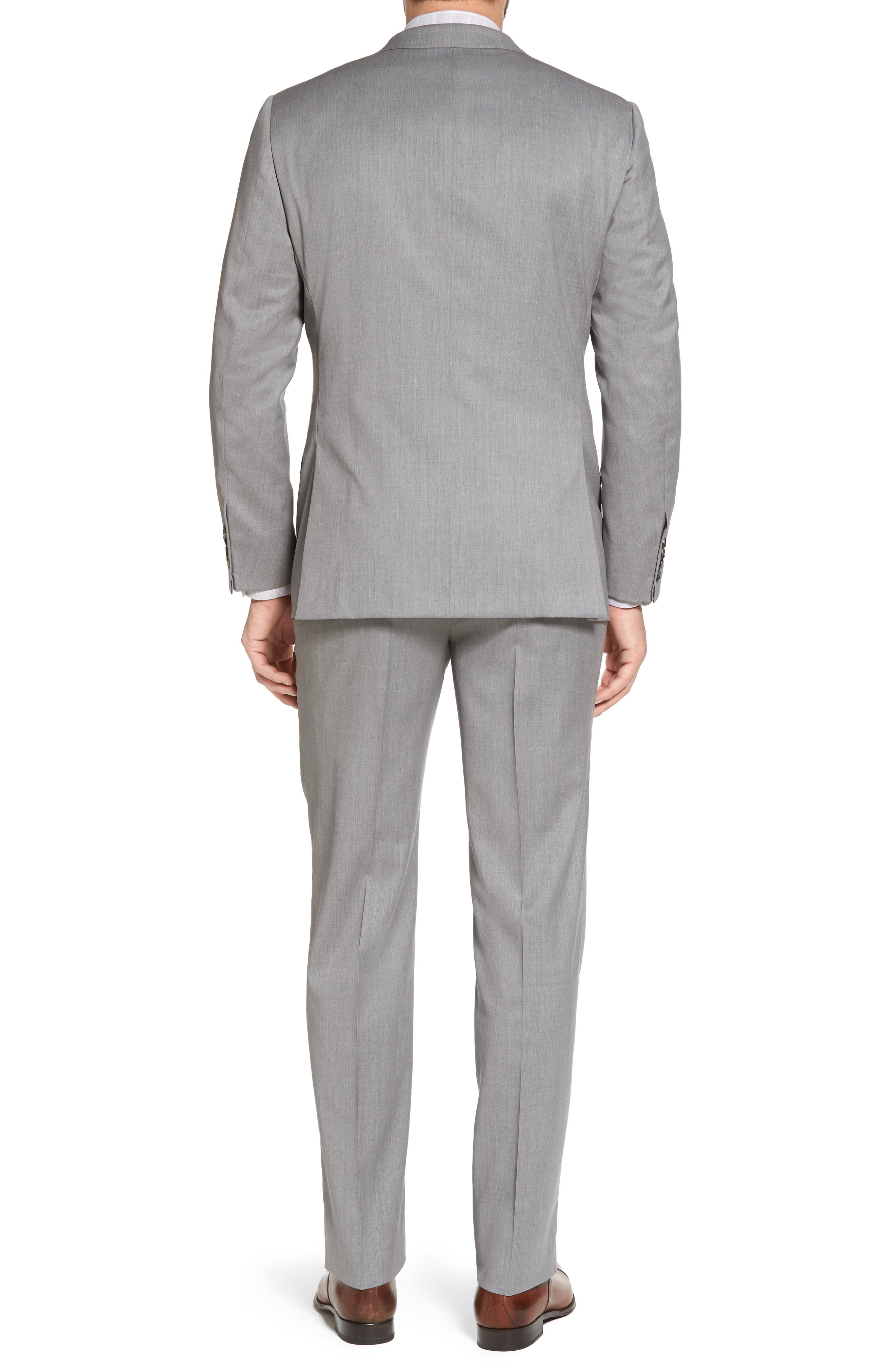 Classic B Fit Solid Wool Suit,                             Alternate thumbnail 2, color,                             Grey