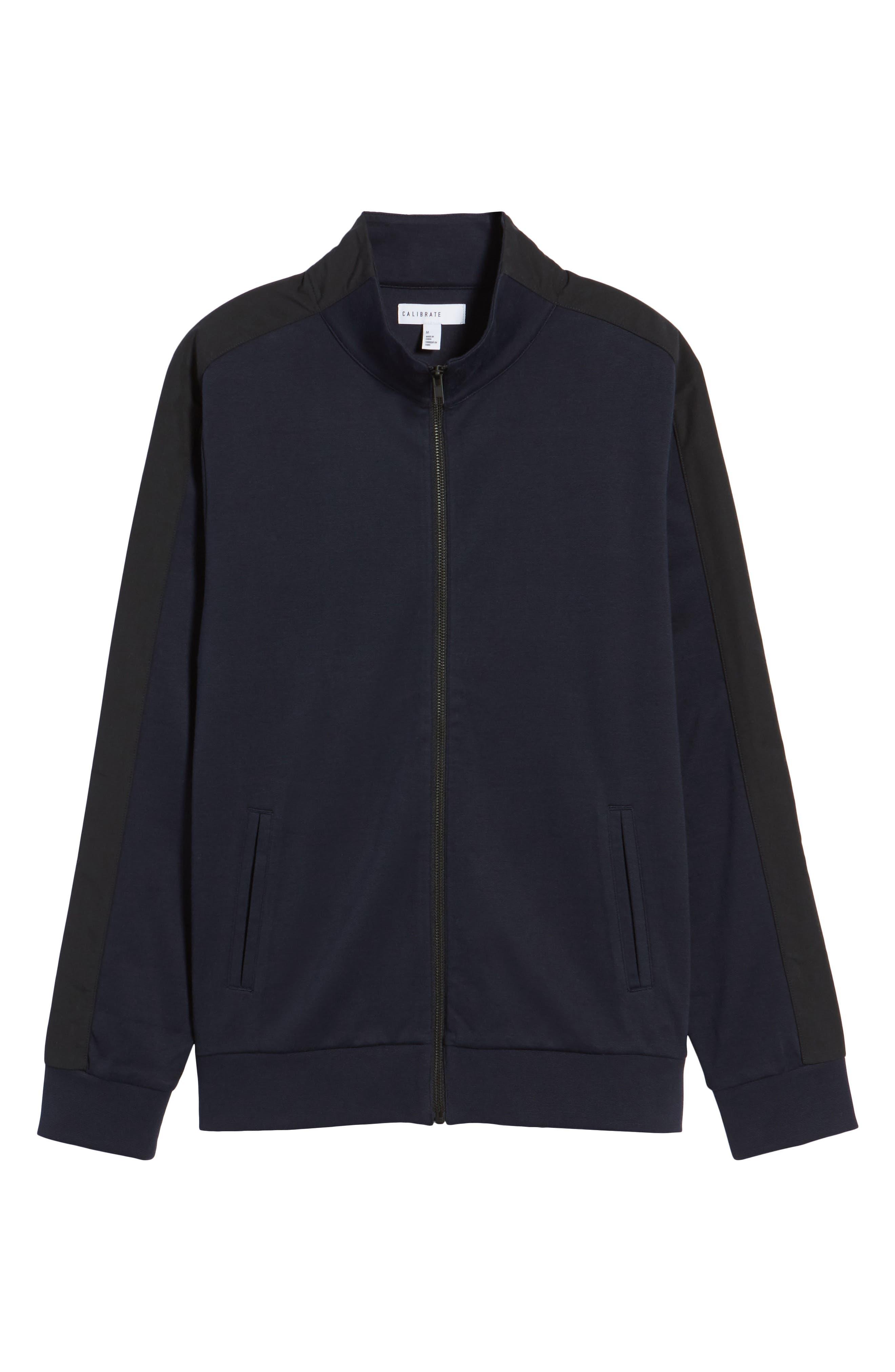 Fleece Jacket,                             Alternate thumbnail 6, color,                             Navy Night Black
