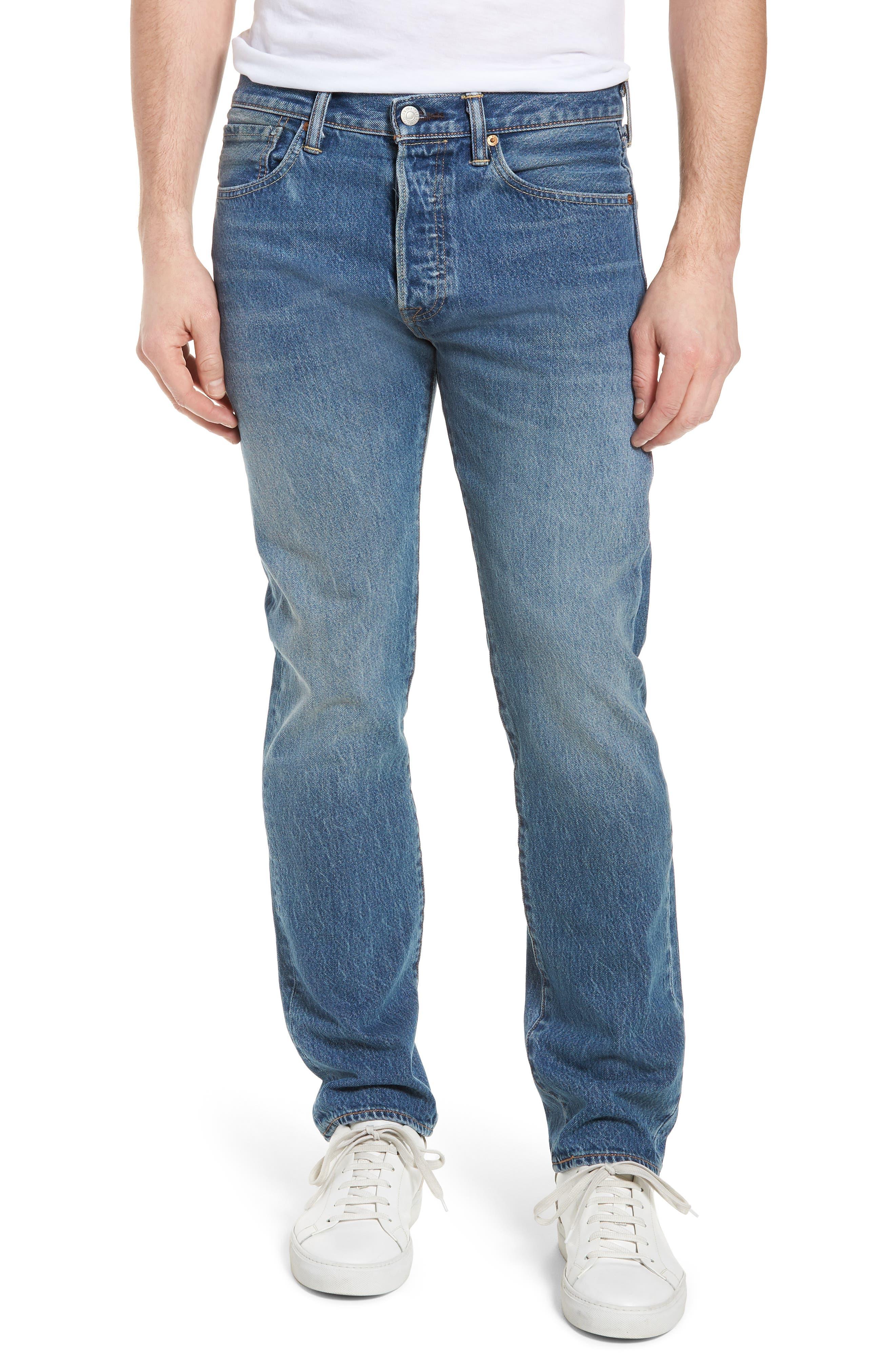 501<sup>™</sup> Straight Leg Jeans,                         Main,                         color, Ivan