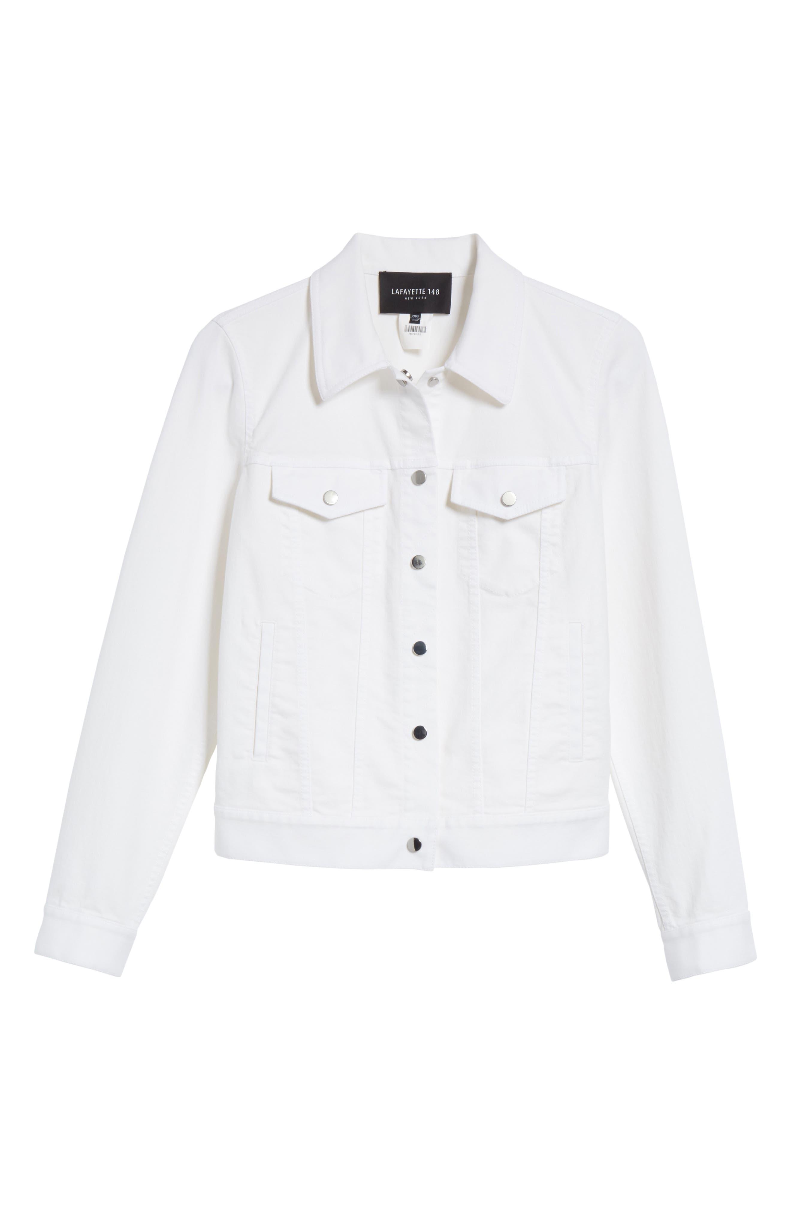 Destiny Denim Jacket,                             Alternate thumbnail 6, color,                             White
