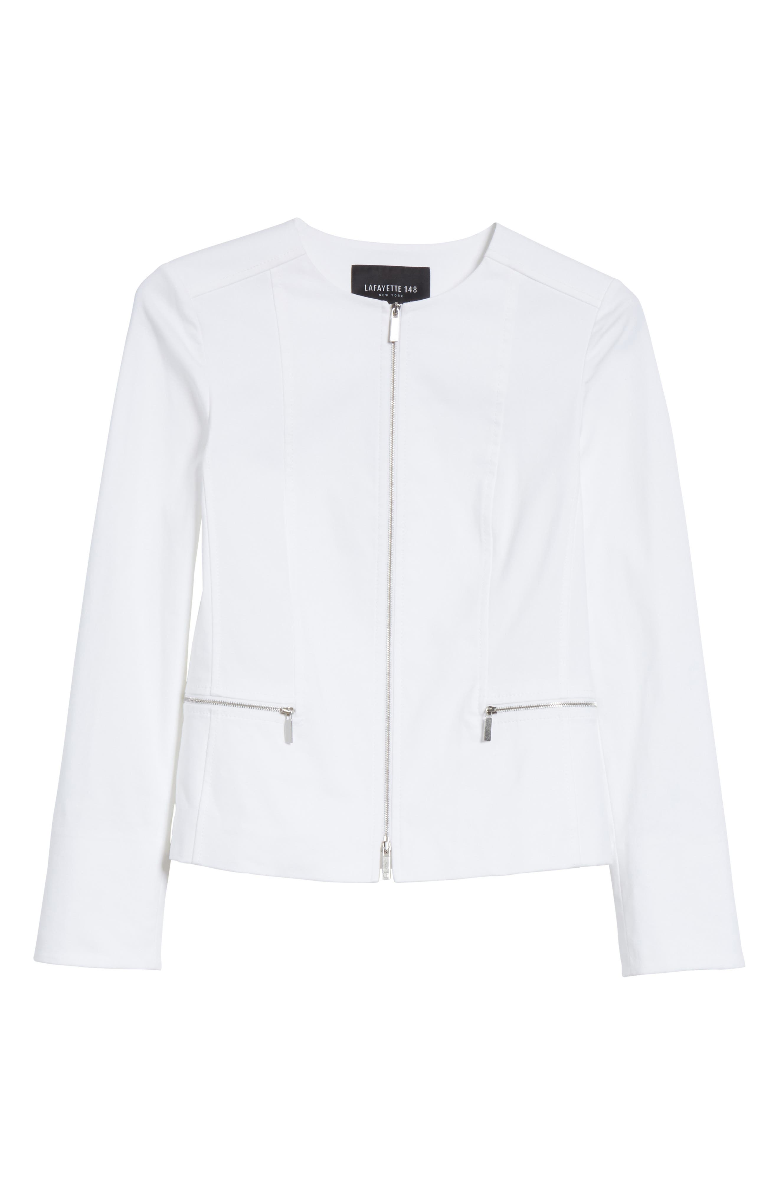 Noelle Catalina Stretch Jacket,                             Alternate thumbnail 6, color,                             White