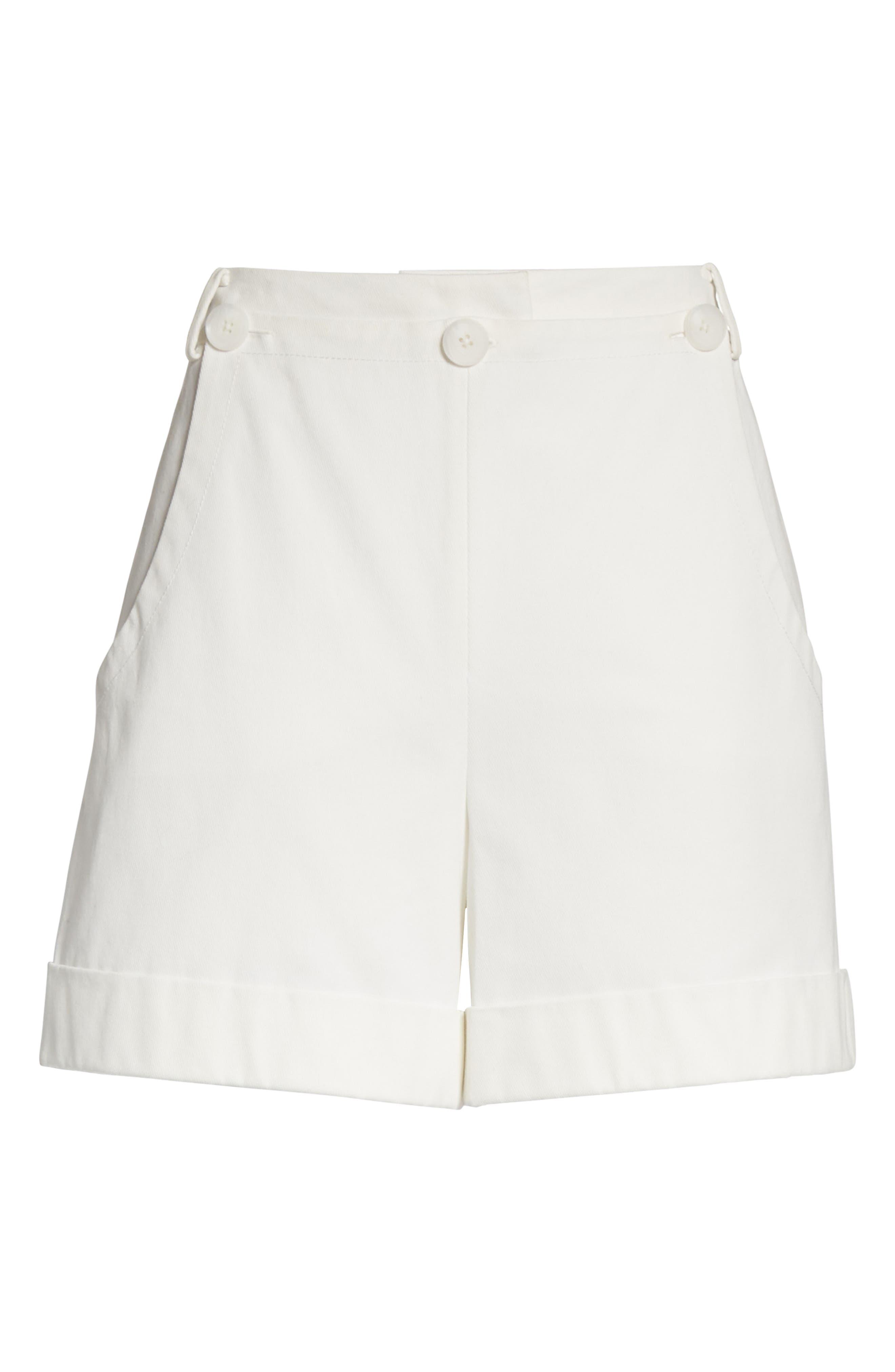 Stretch Cotton Sailor Shorts,                             Alternate thumbnail 6, color,                             Star White