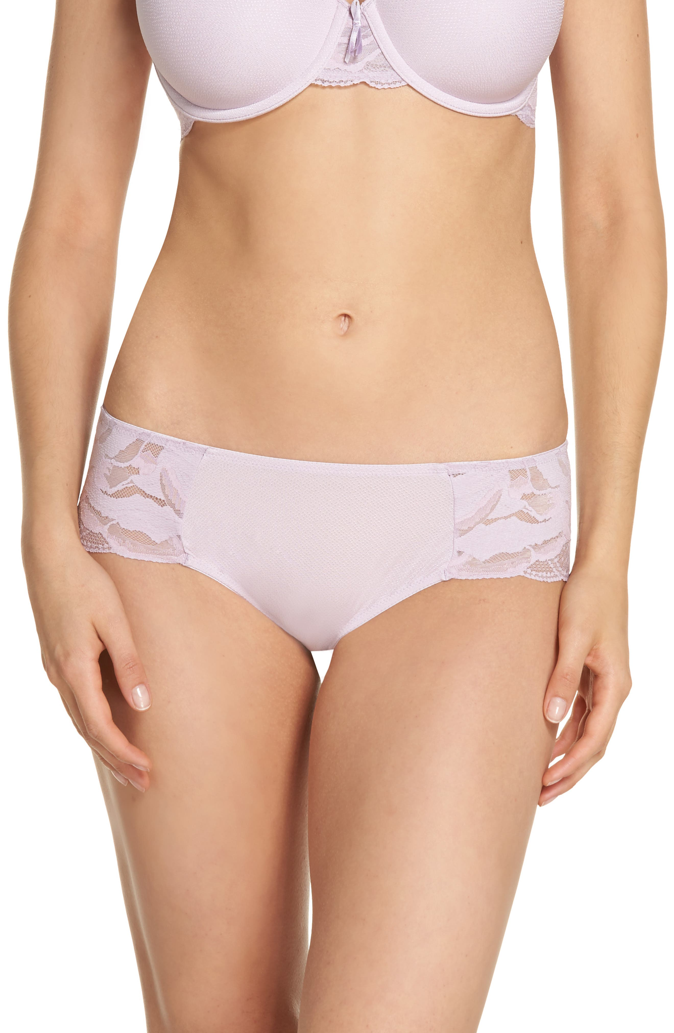 Hipster Top Tier Panties,                         Main,                         color, Lavender Frost