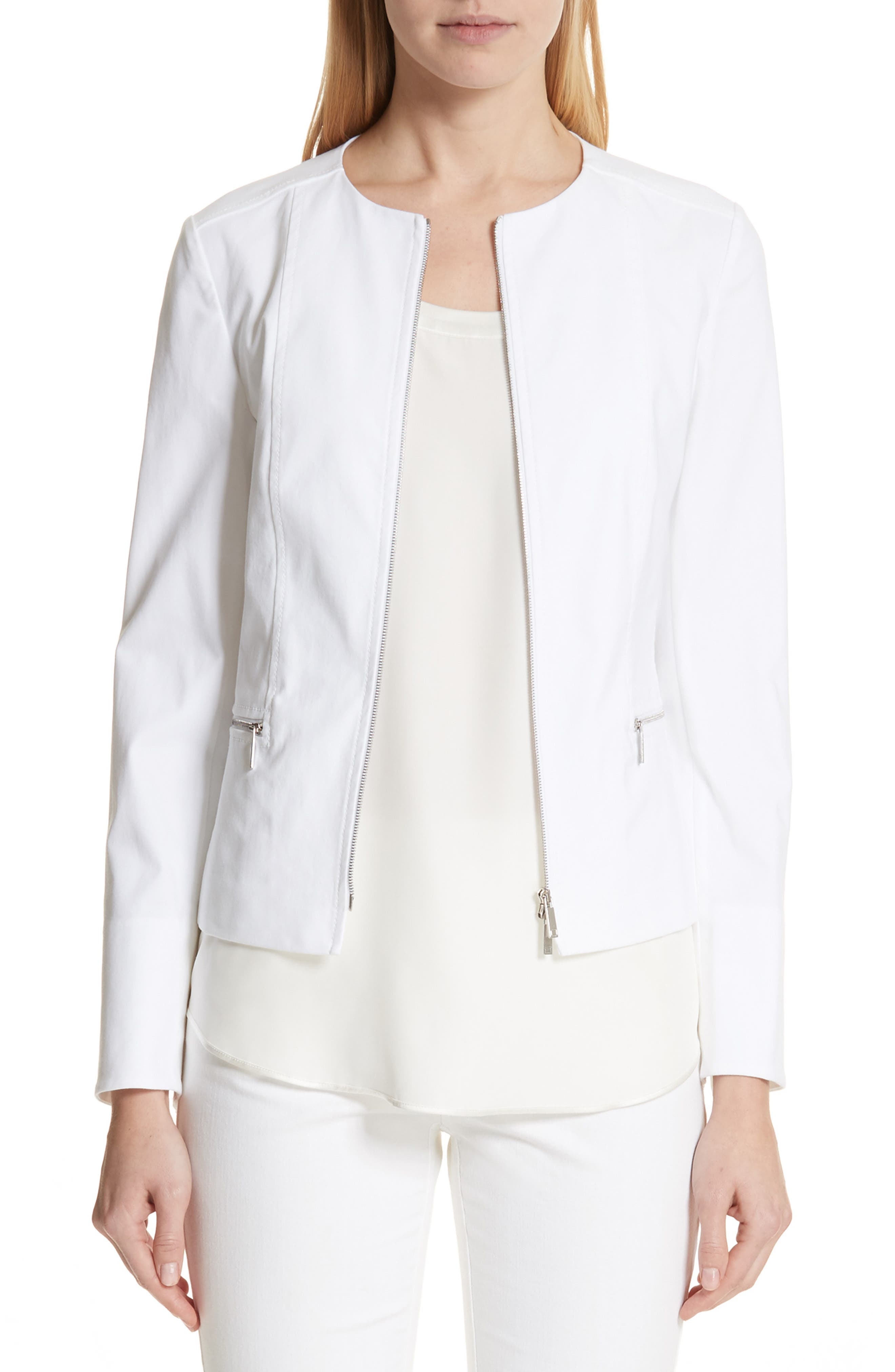 Noelle Catalina Stretch Jacket,                             Main thumbnail 1, color,                             White