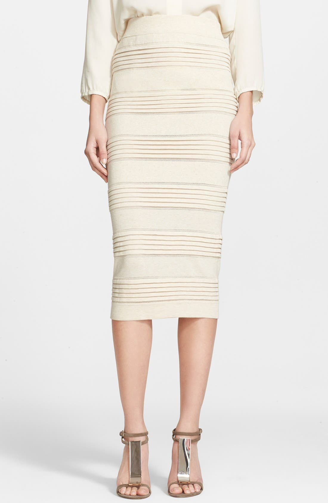 Alternate Image 1 Selected - Burberry London Cotton Blend Knit Pencil Skirt