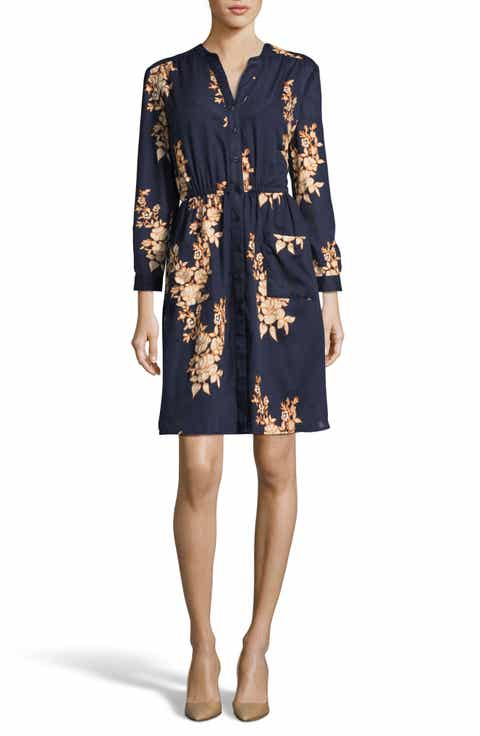 ECI Floral Shirtdress
