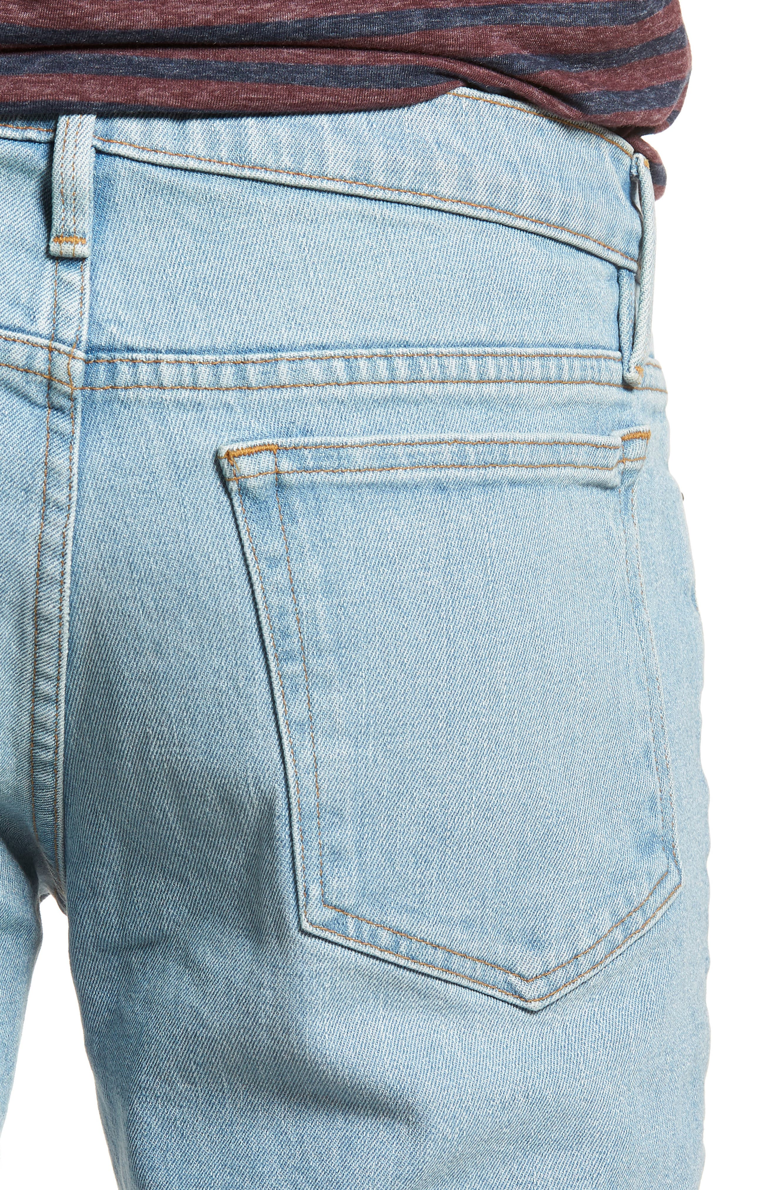 L'Homme Cutoff Denim Shorts,                             Alternate thumbnail 3, color,                             Crosby