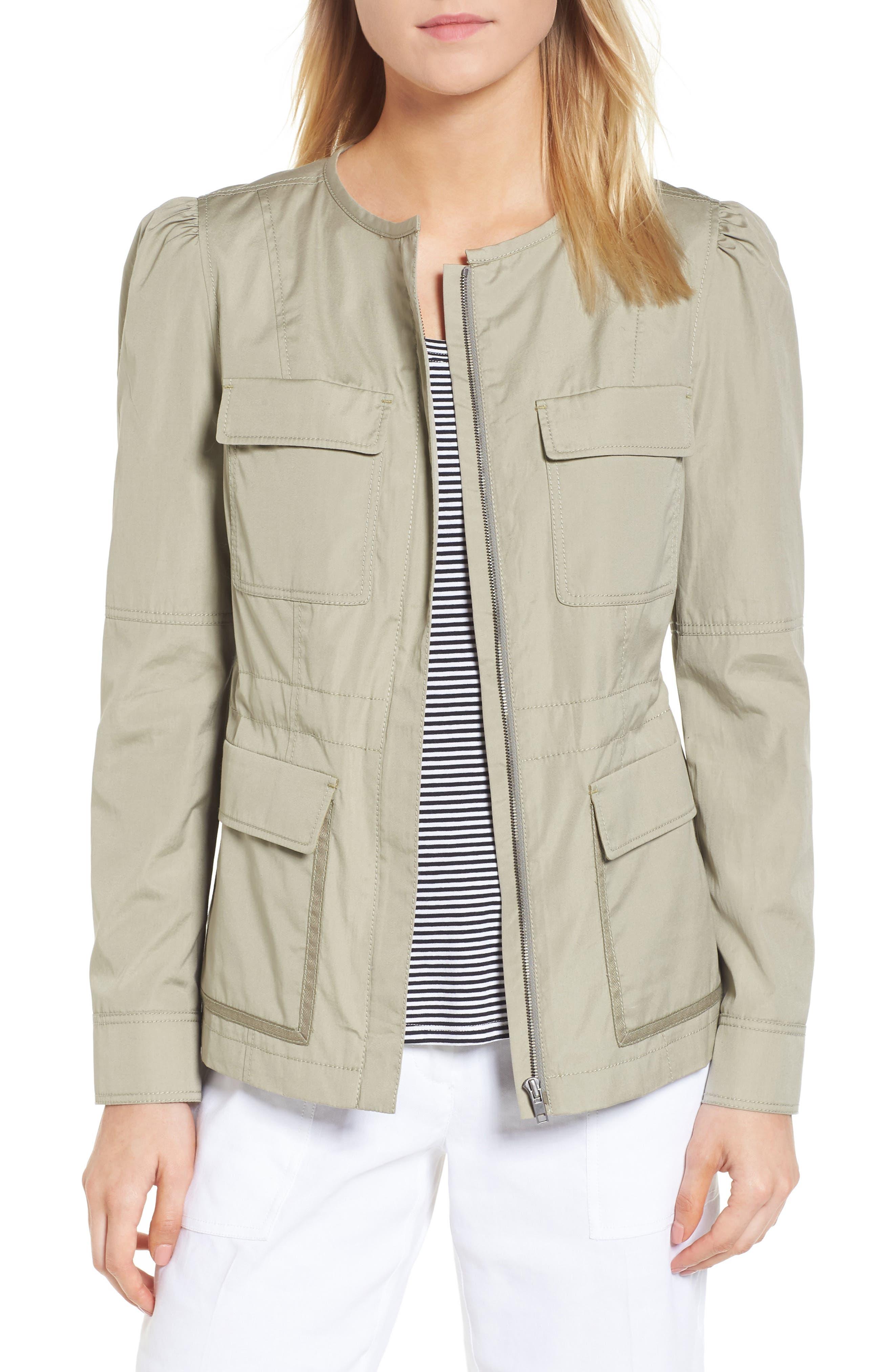 Utility Jacket,                         Main,                         color, Olive Sage