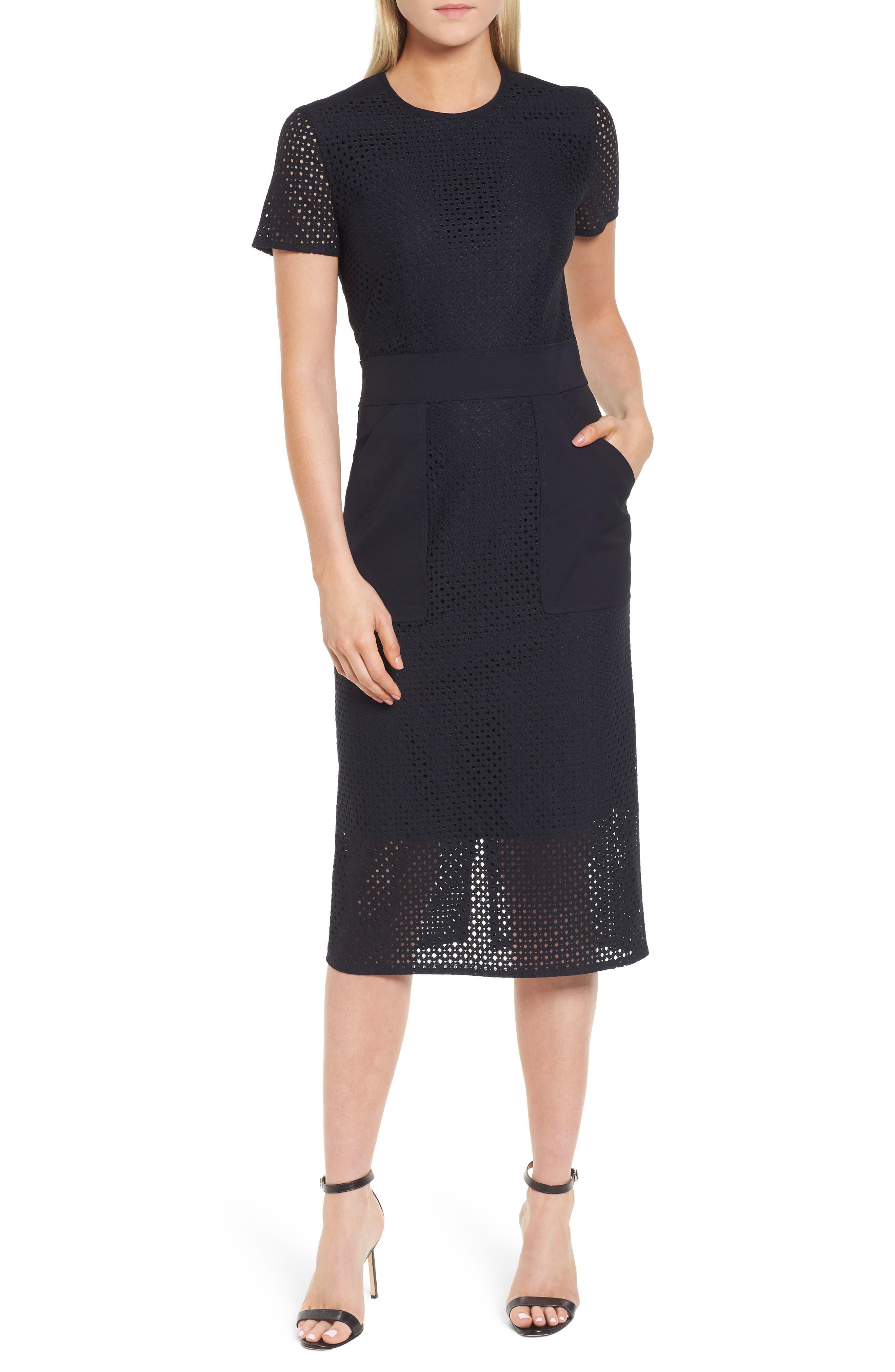 Damyla Sheath Dress,                         Main,                         color, Navy