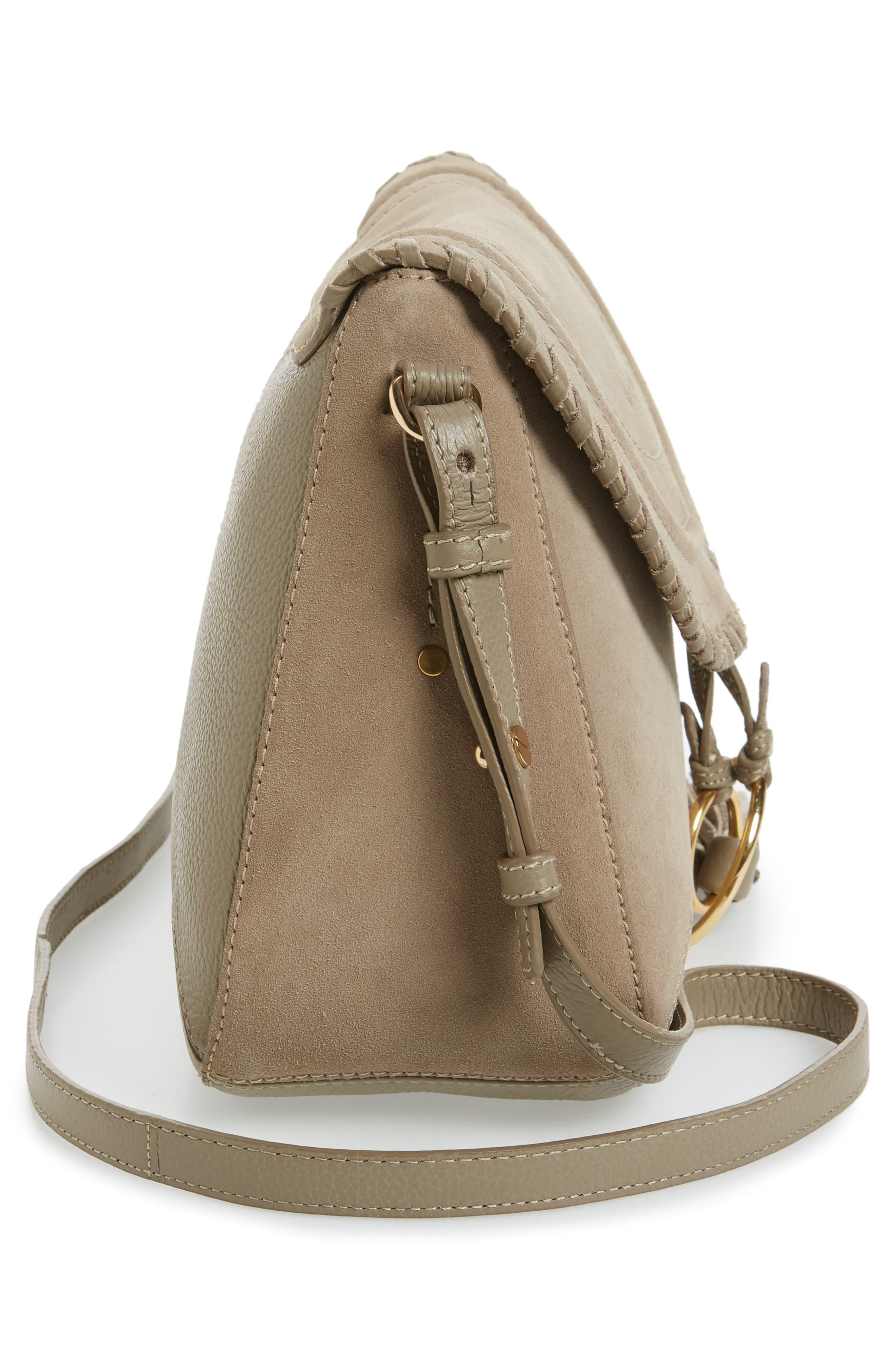 Polly Crossbody Bag,                             Alternate thumbnail 5, color,                             Motty Grey
