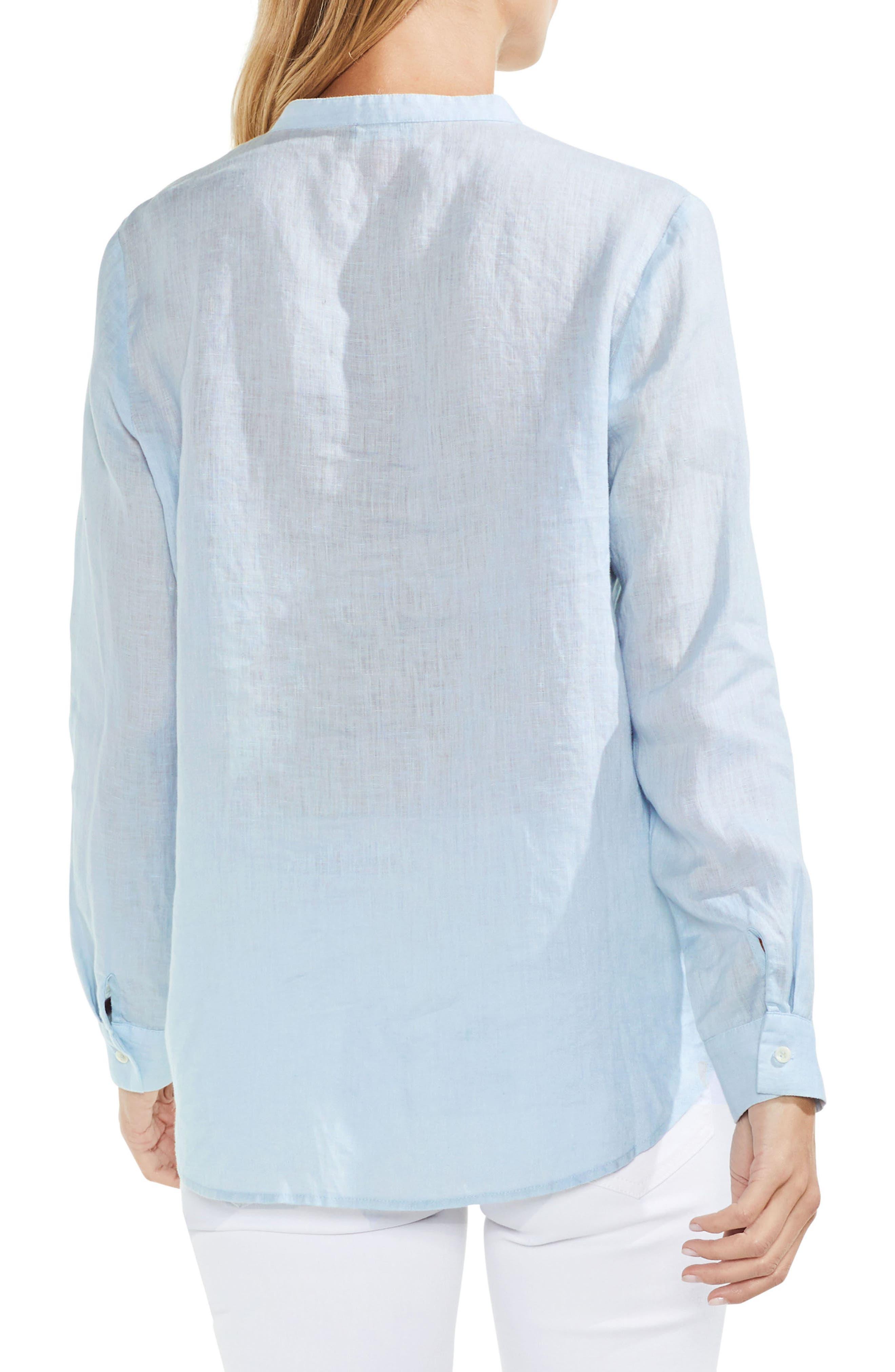 Pintuck Linen Shirt,                             Alternate thumbnail 2, color,                             Sea Salt