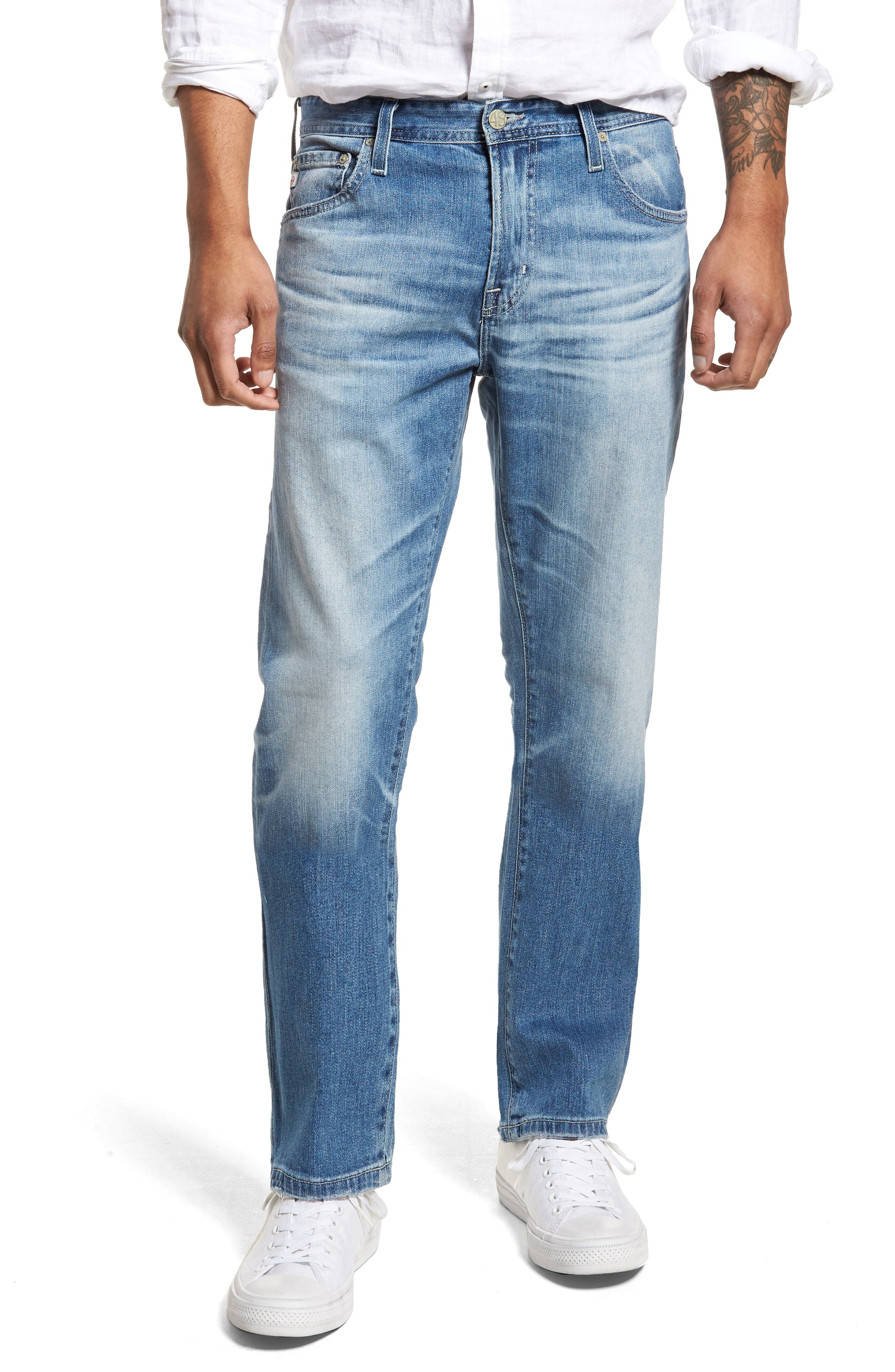 Ives Straight Leg Jeans,                             Main thumbnail 1, color,                             15 Years Aground