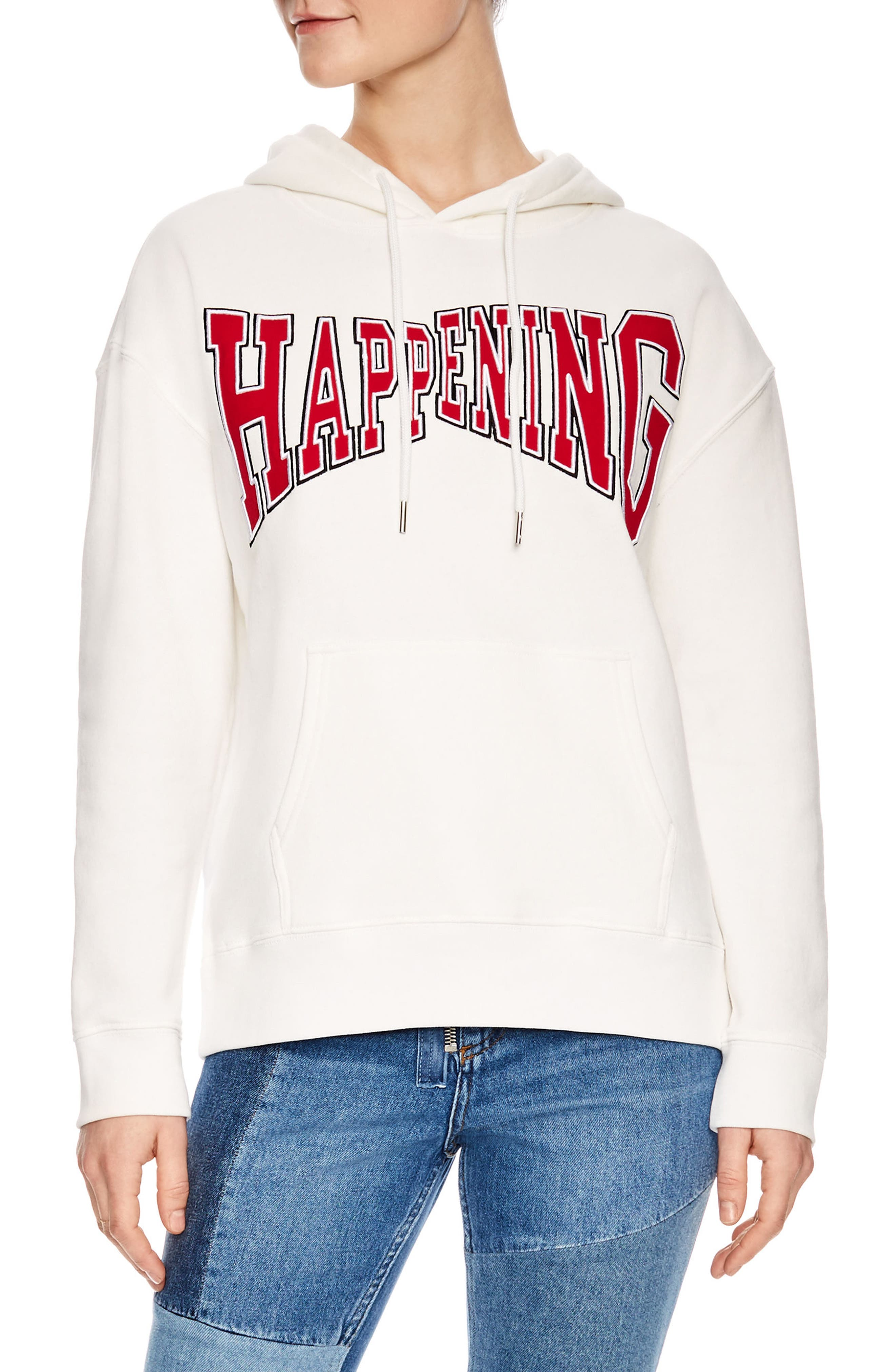 Happening Hoodie,                             Main thumbnail 1, color,                             White