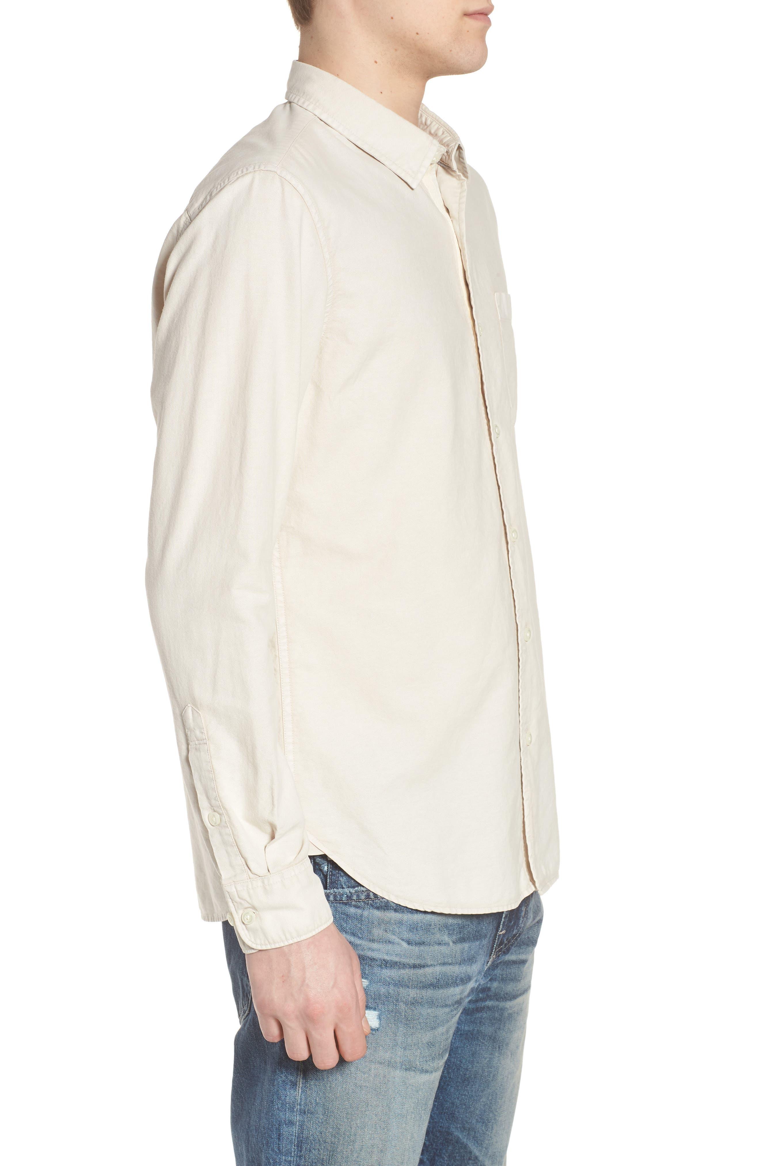Bristol Slim Fit Sport Shirt,                             Alternate thumbnail 3, color,                             Sunbaked Mineral Veil