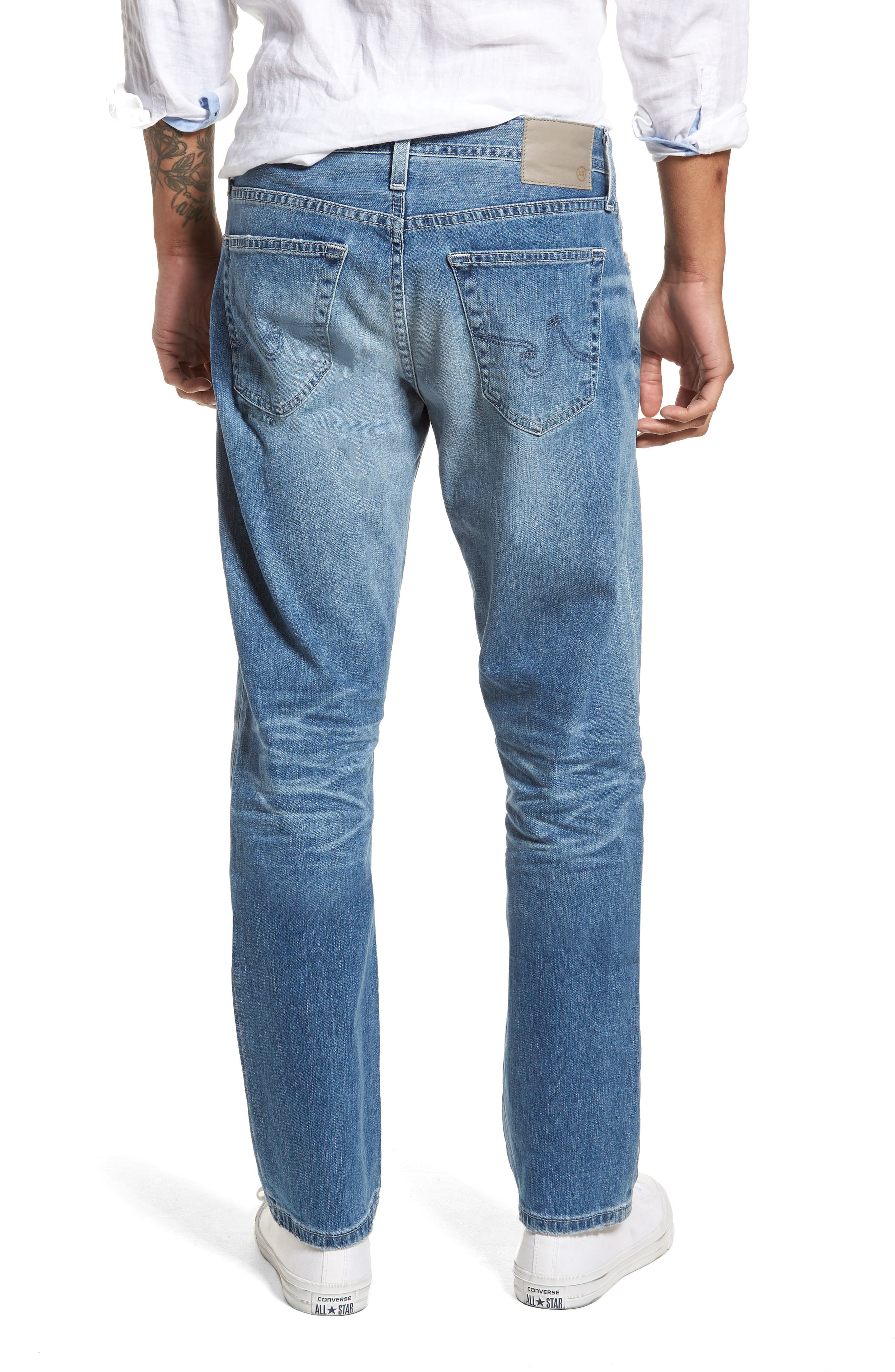 Ives Straight Leg Jeans,                             Alternate thumbnail 2, color,                             15 Years Aground